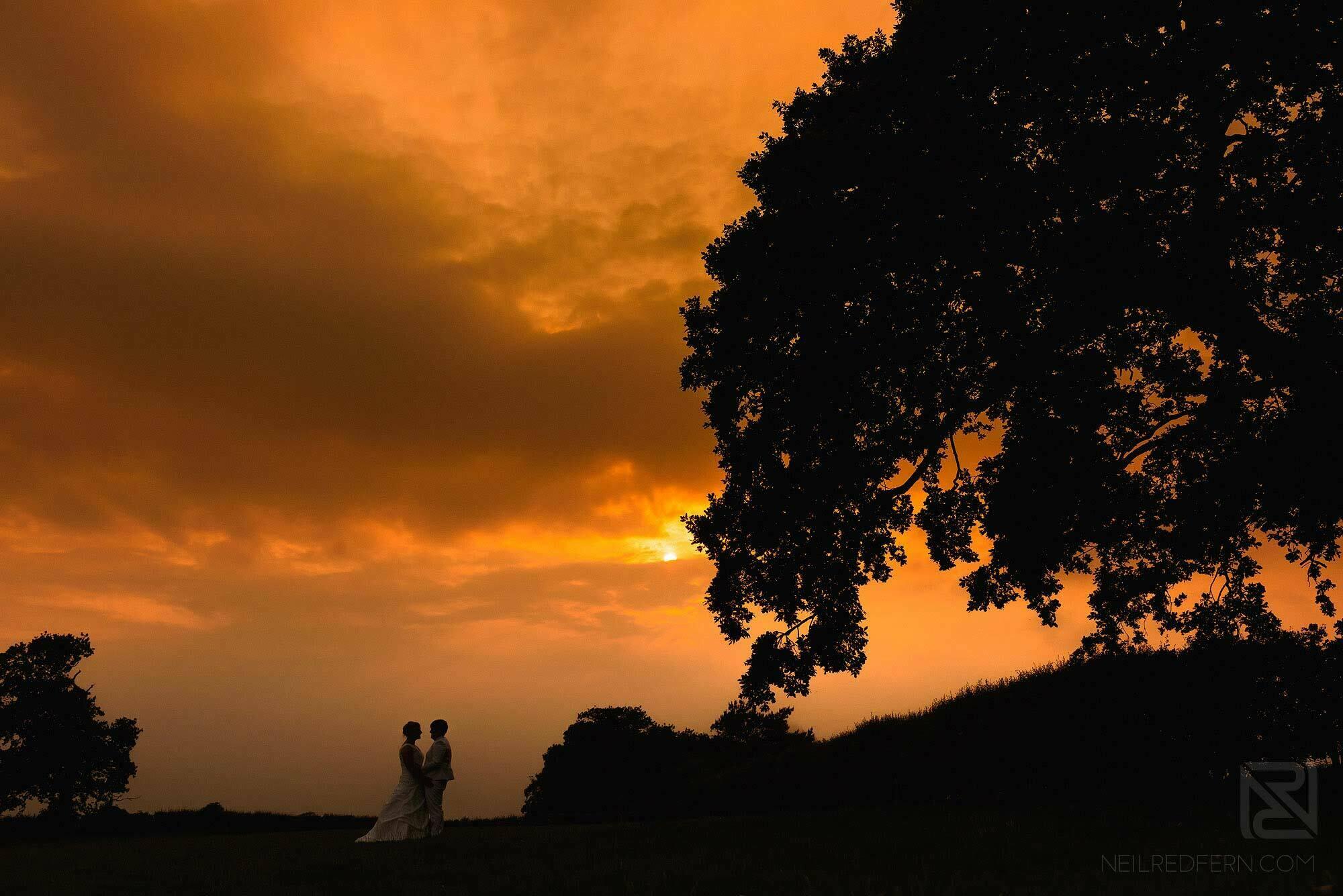 sunset photograph at Sandhole Oak Barn