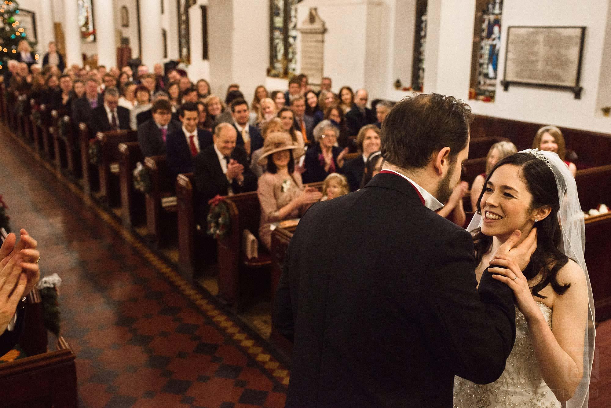 emotional moment during wedding ceremony
