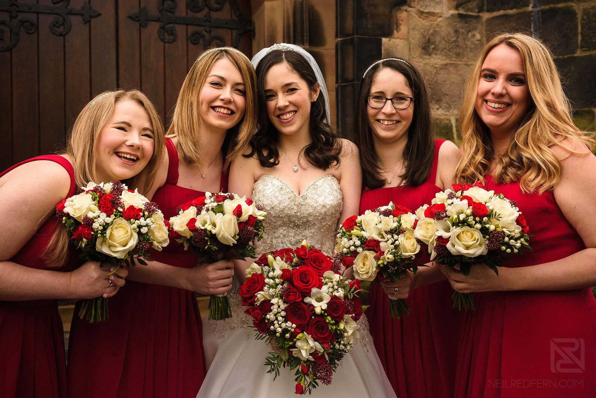 photograph of happy Bridesmaids