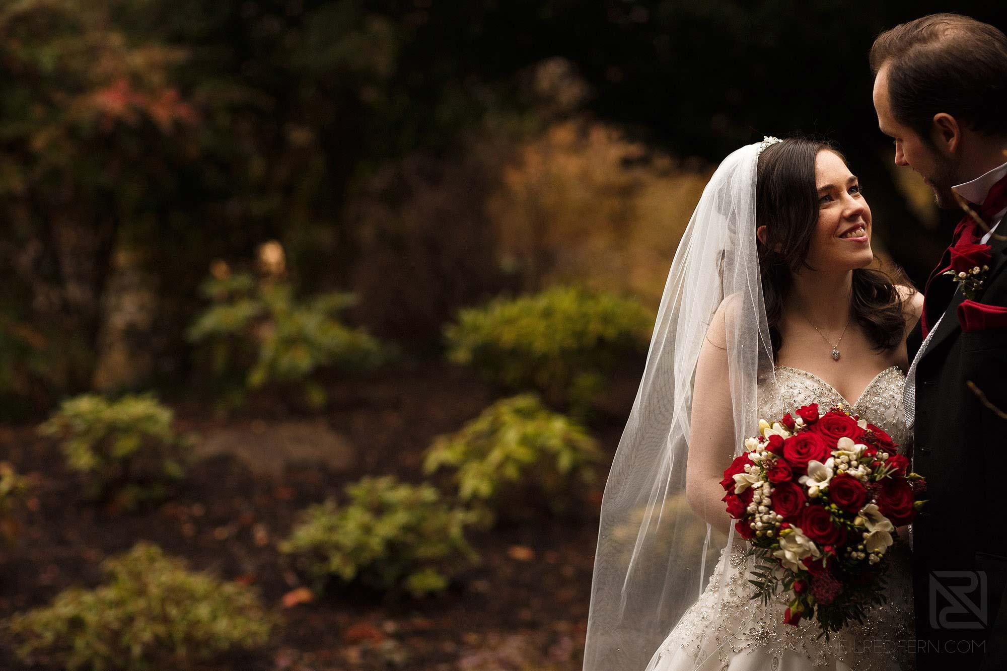 bride and groom portrait photograph