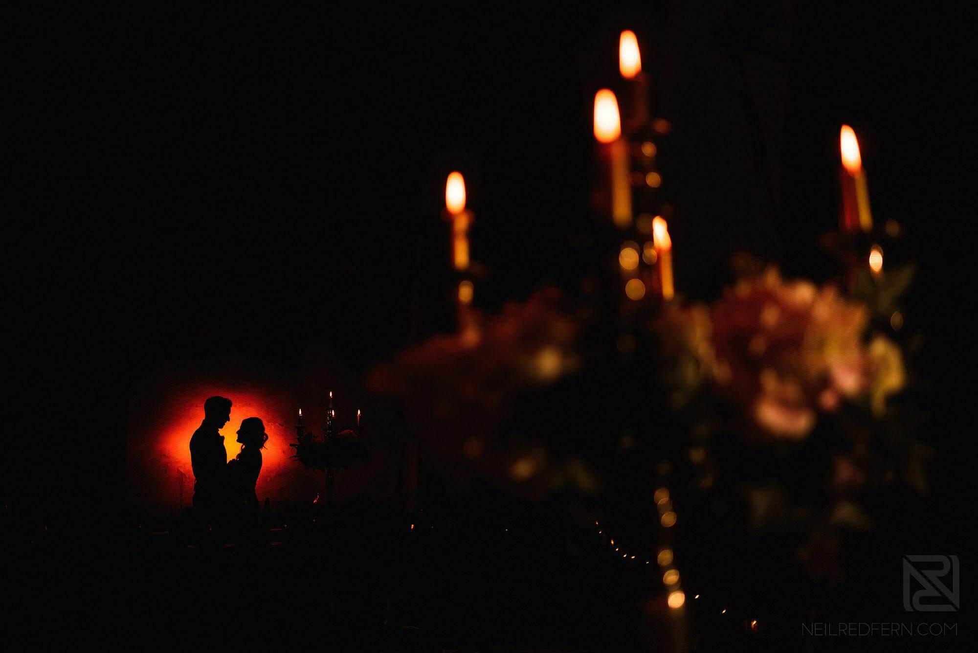 creative photograph of bride and groom at Montestigliano wedding