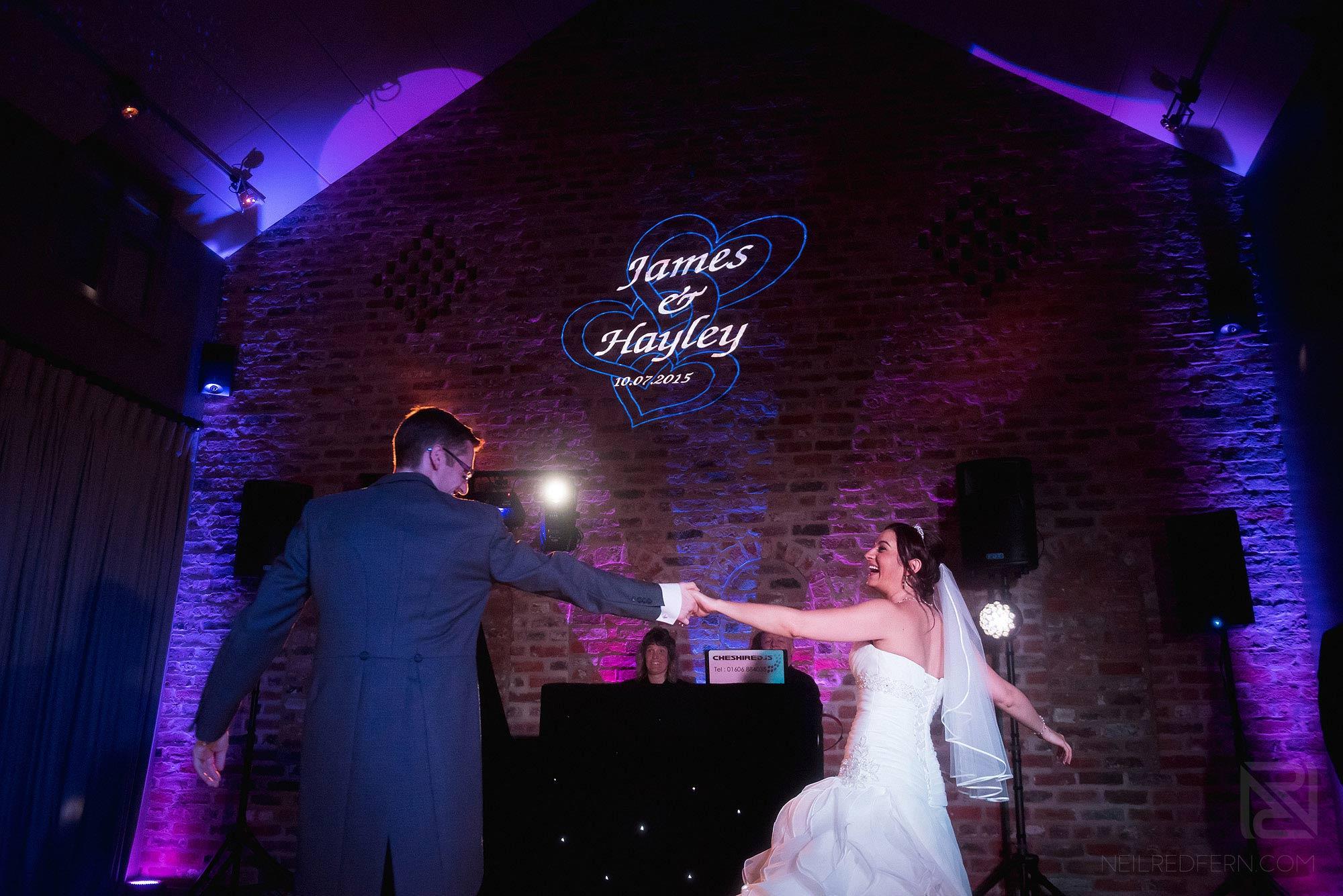 wedding first dance at Arley Hall