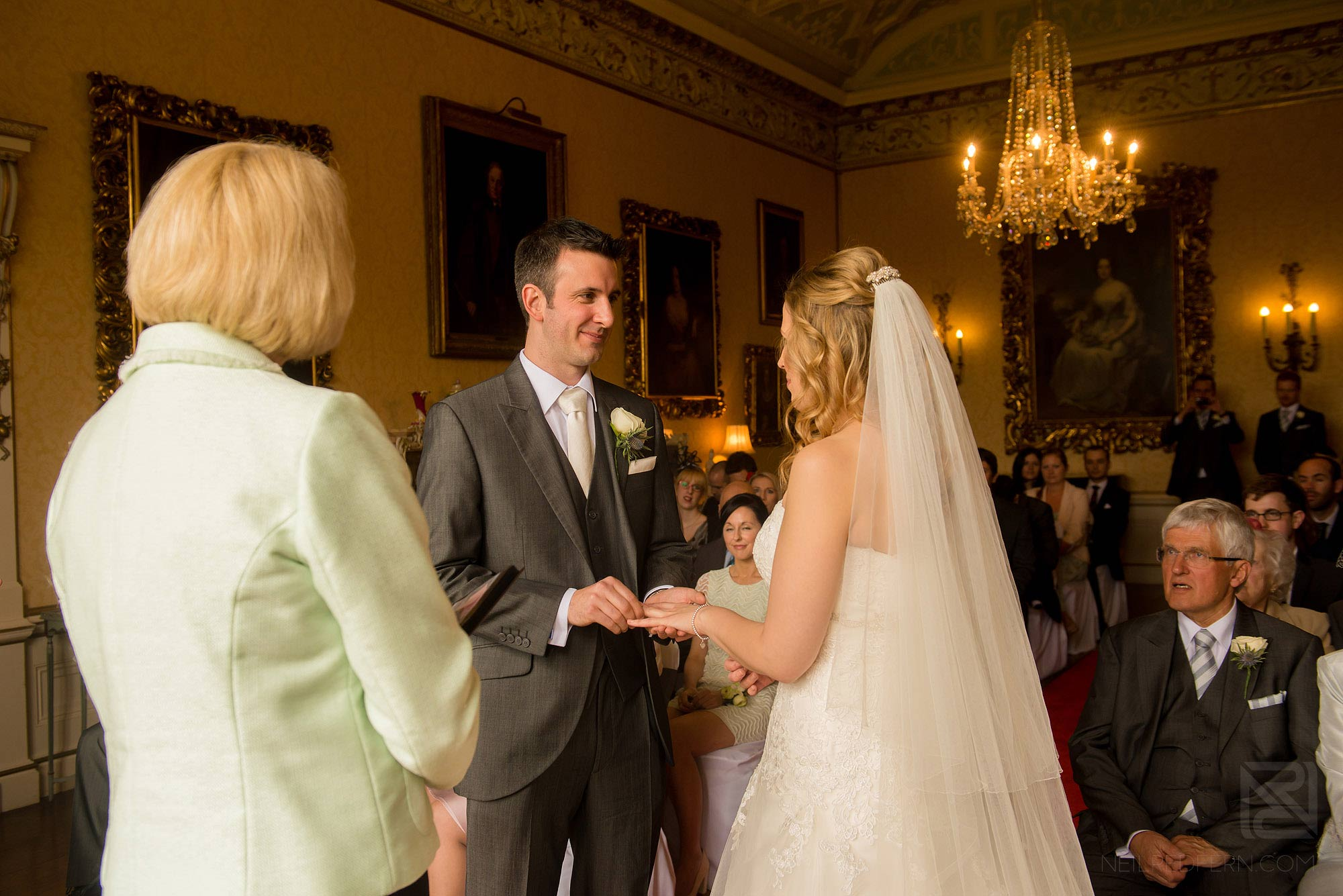 wedding ceremony at Arley Hall in Cheshire