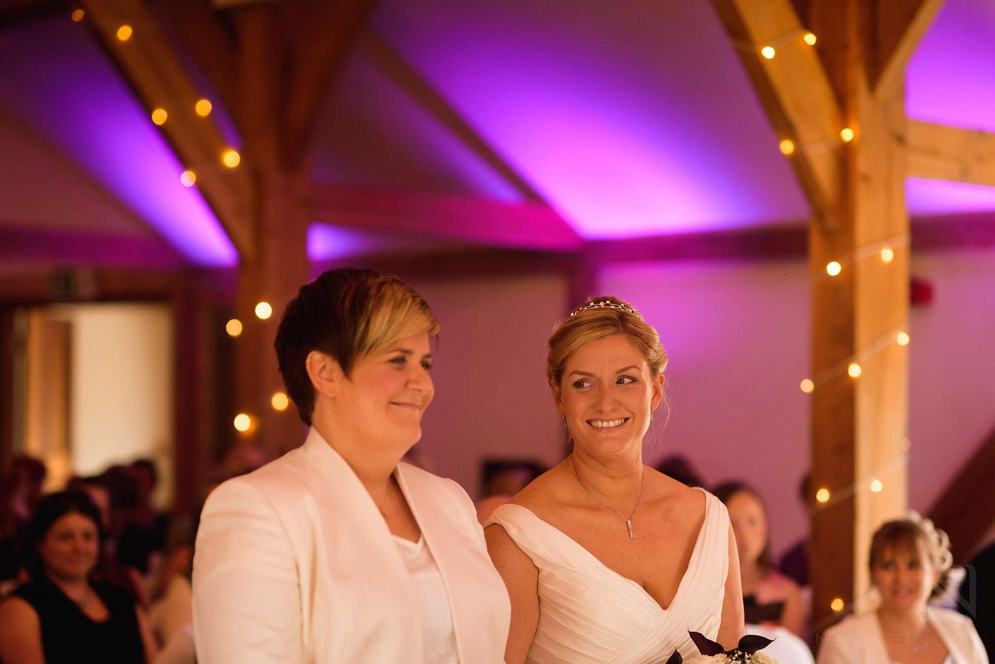 civil partnership at Sandhole Oak Barn