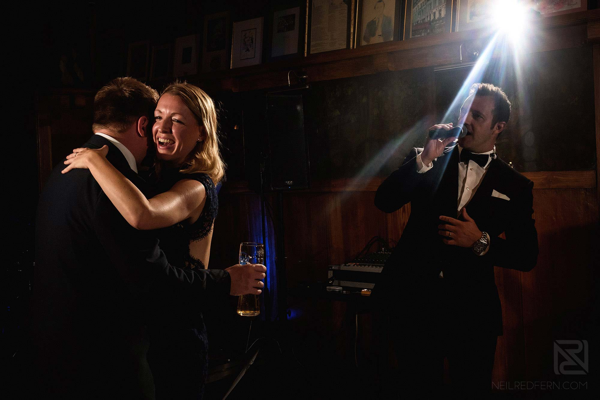 wedding guests dancing during wedding reception at the Belle Epoque