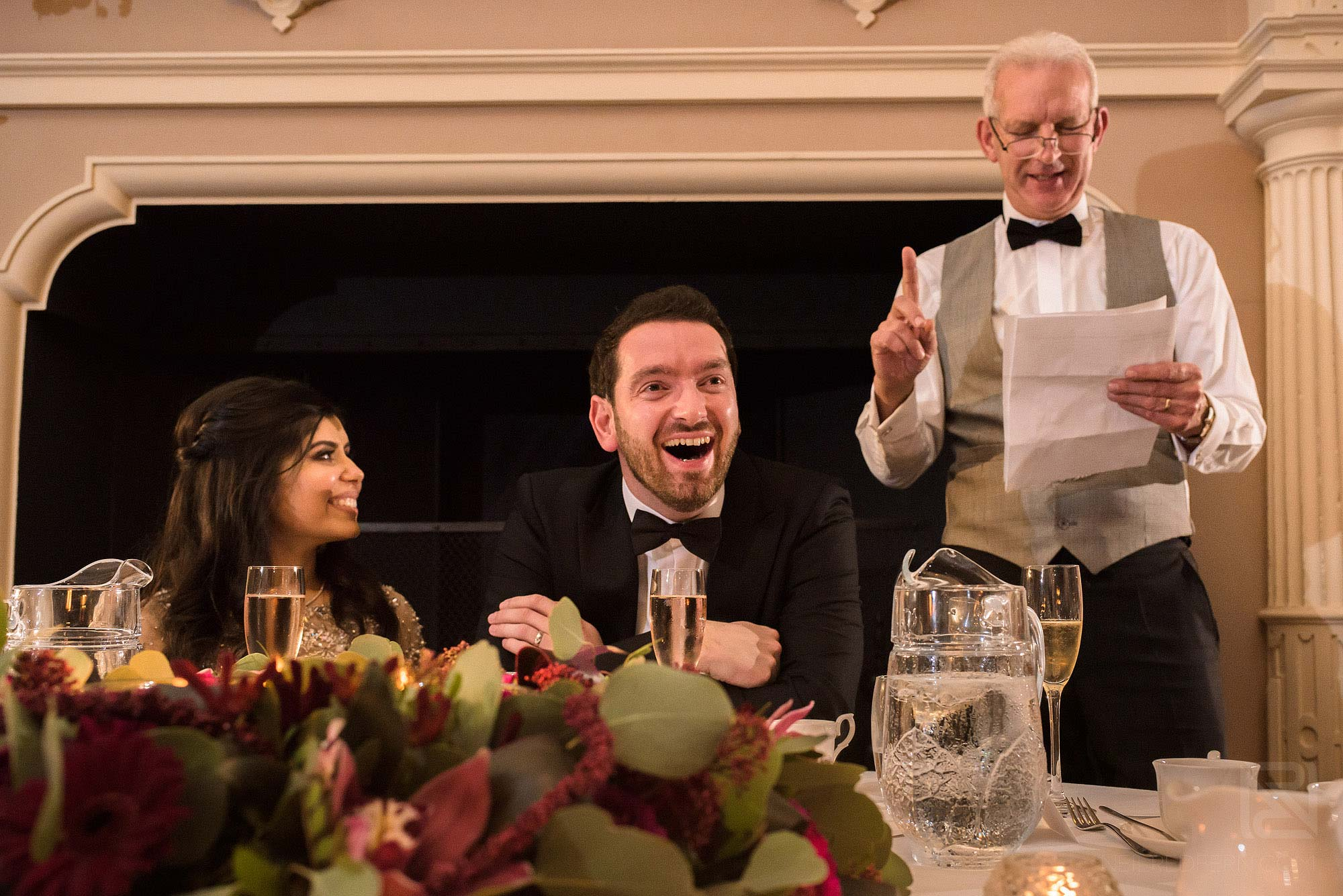 father of groom giving speech at Arley Hall