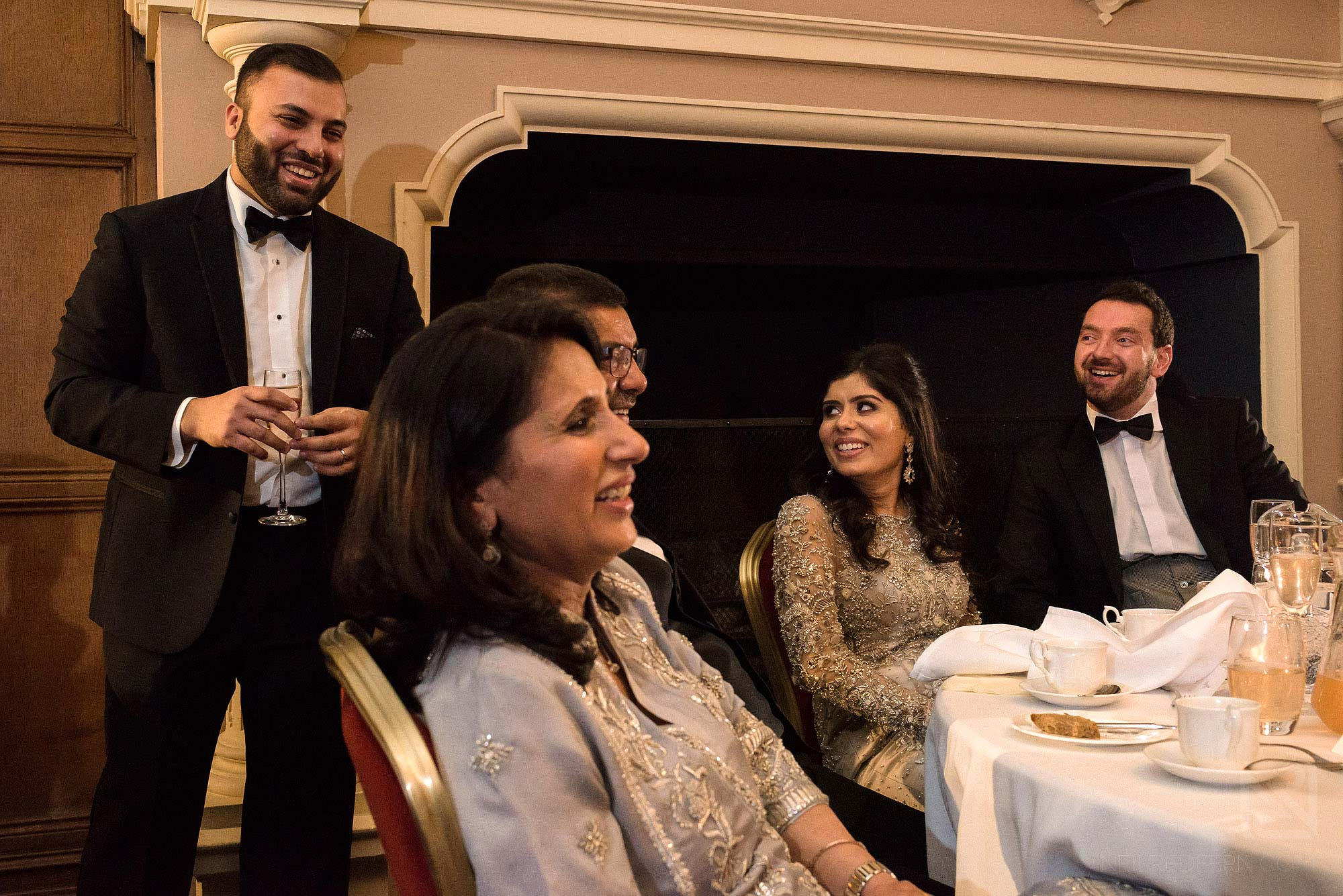 laughter during wedding speeches