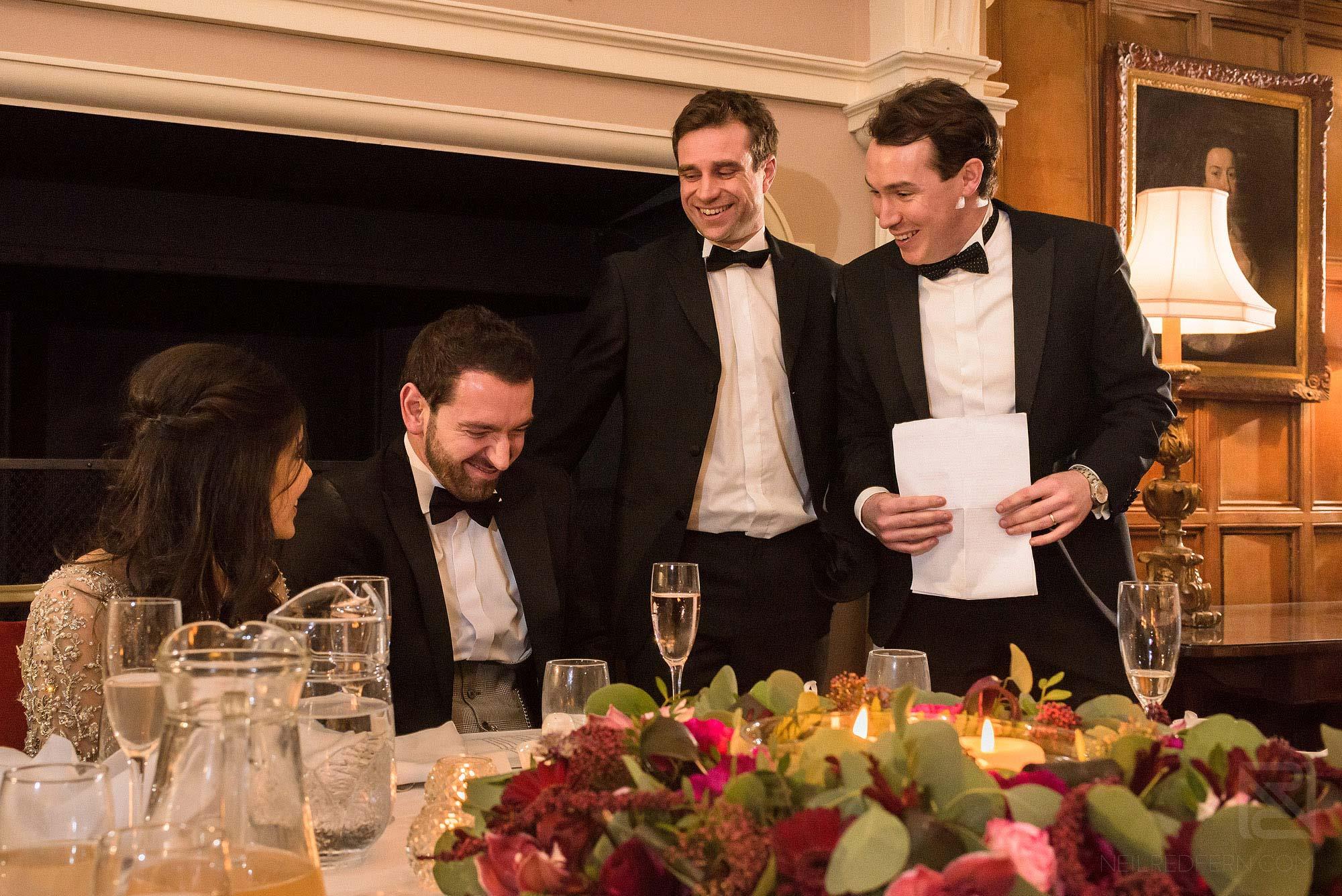 best men's speech at Arley Hall winter wedding
