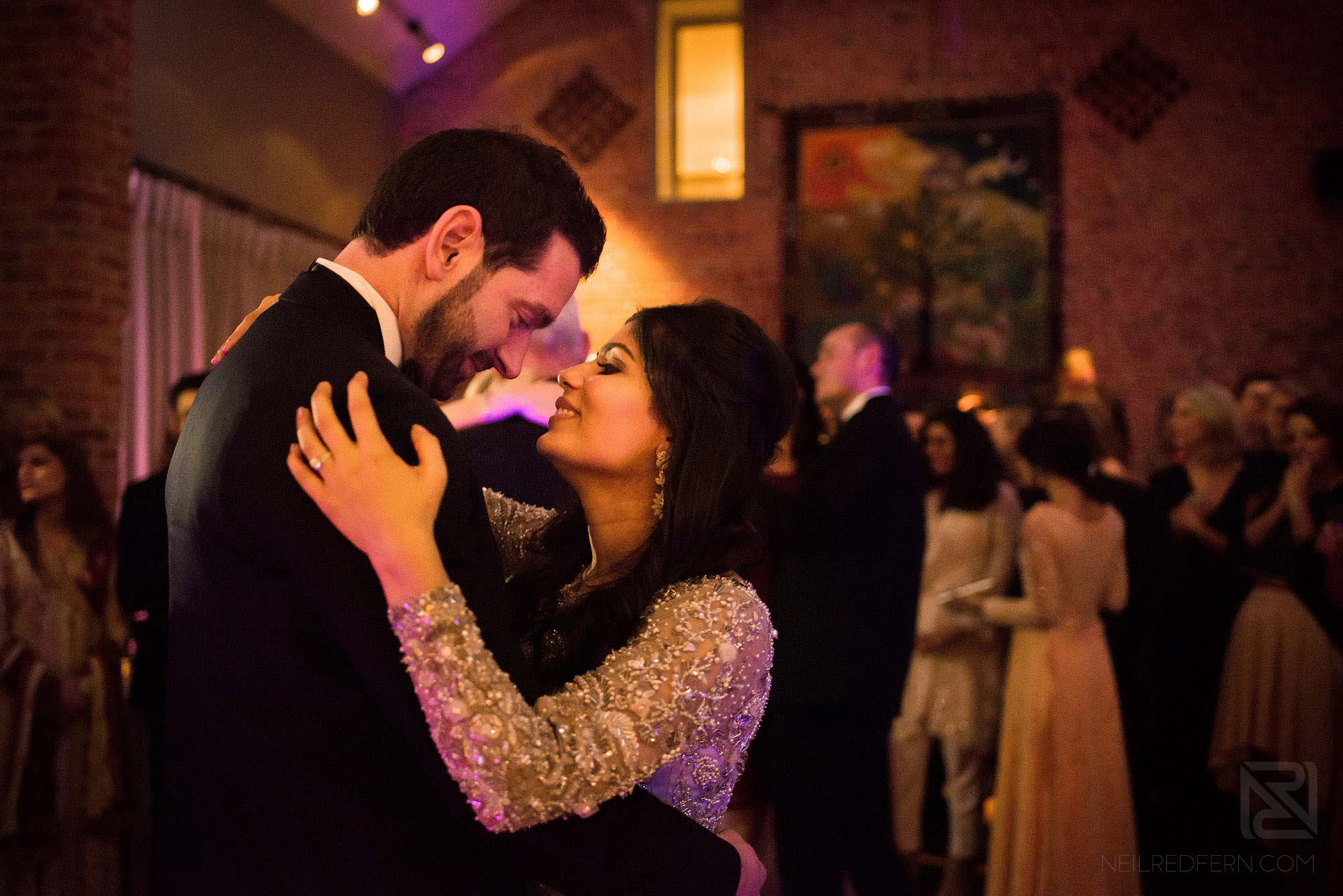 bride and groom first dance at Arley Hall