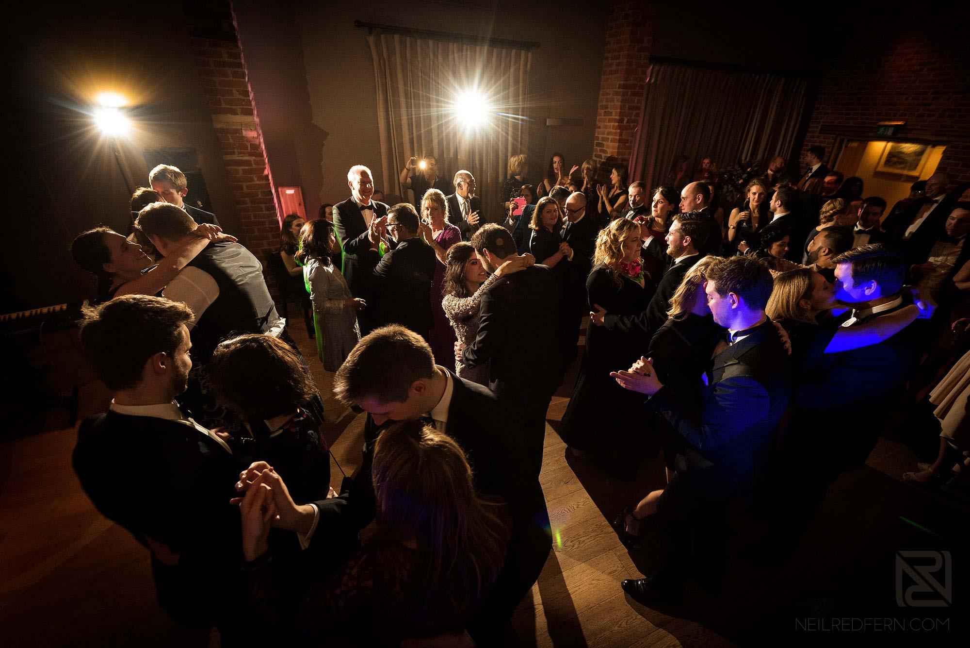packed dance floor at Arley Hall wedding