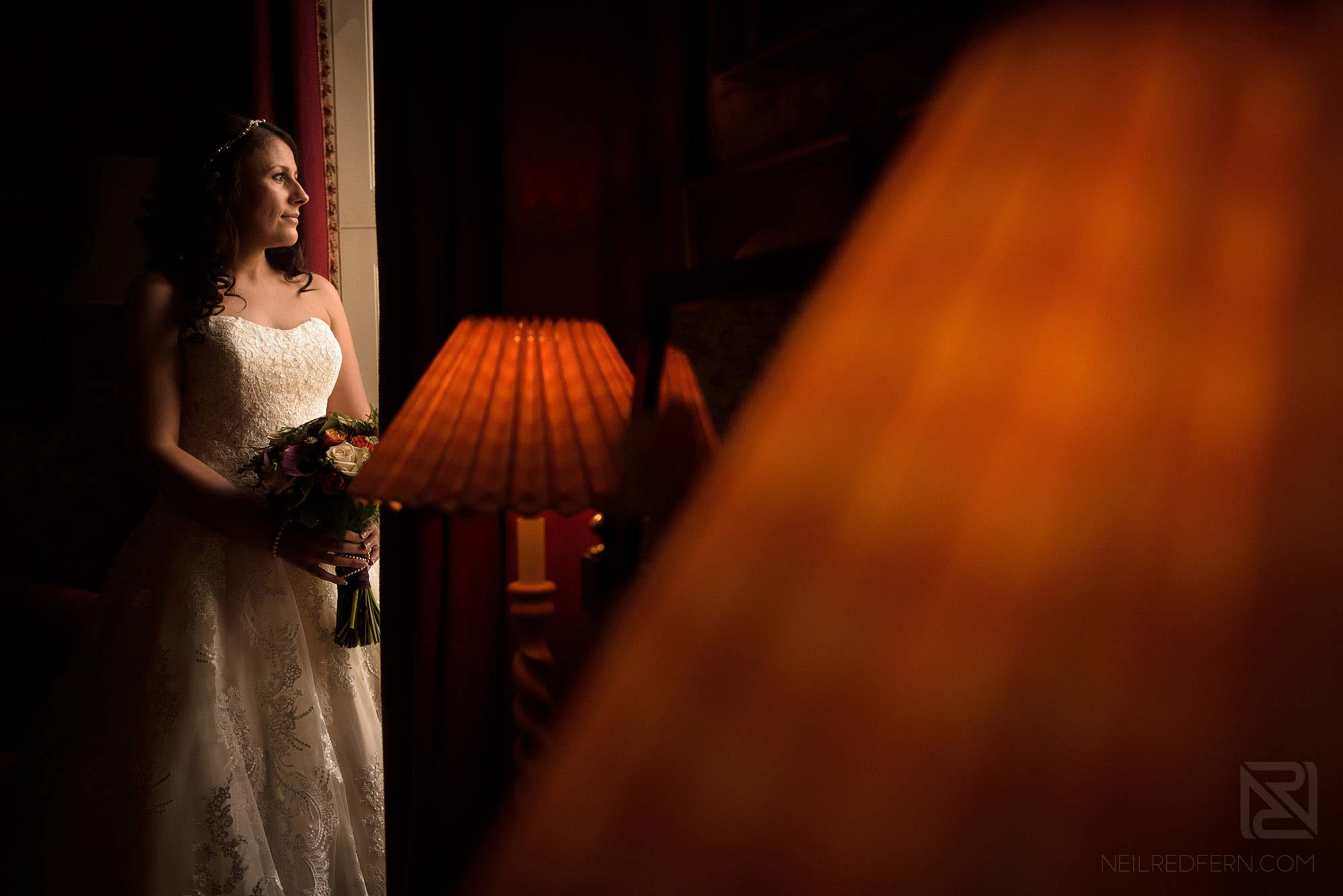 beautiful portrait of bride at Knowsley Hall