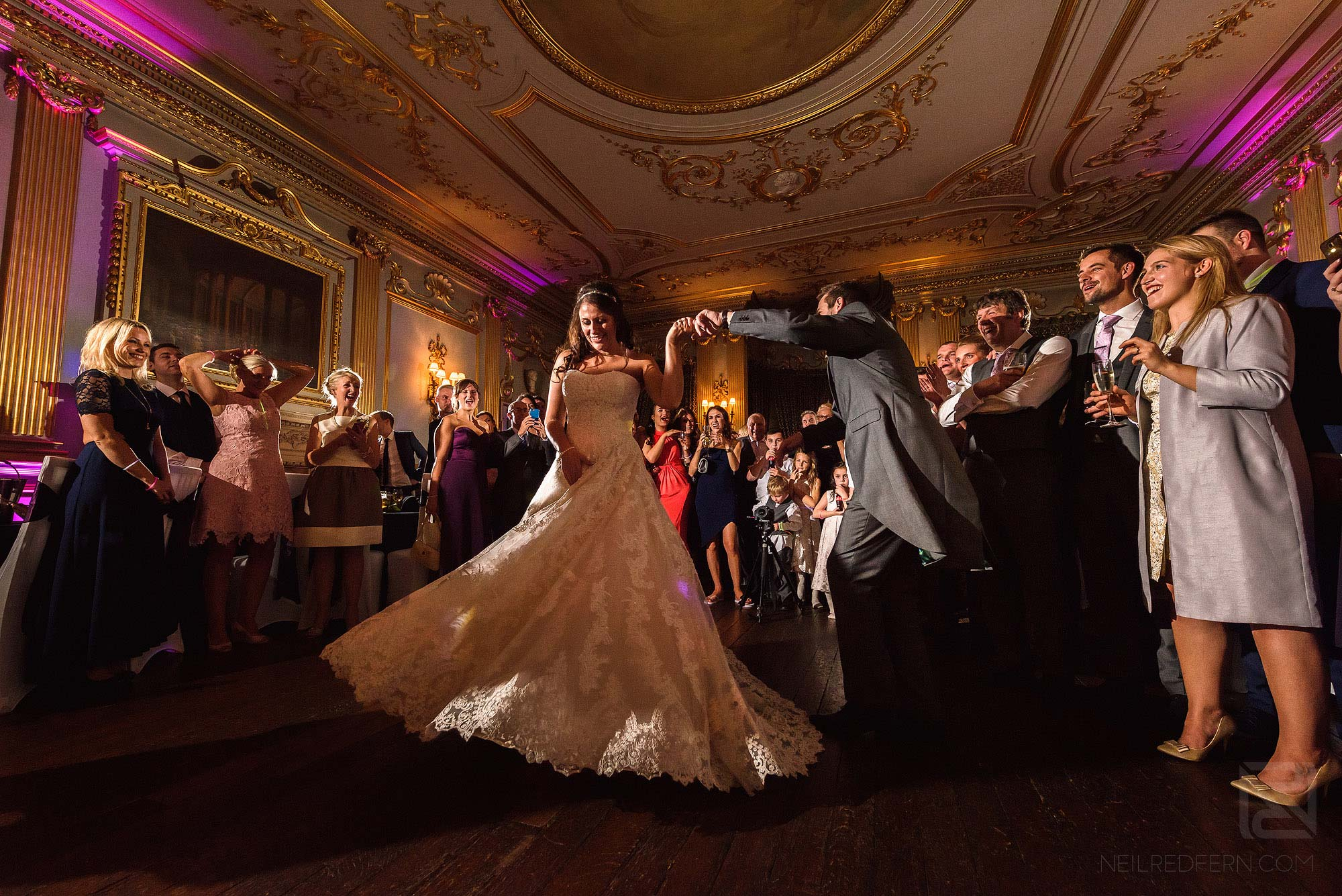 bride and groom first dance at Knowsley Hall wedding