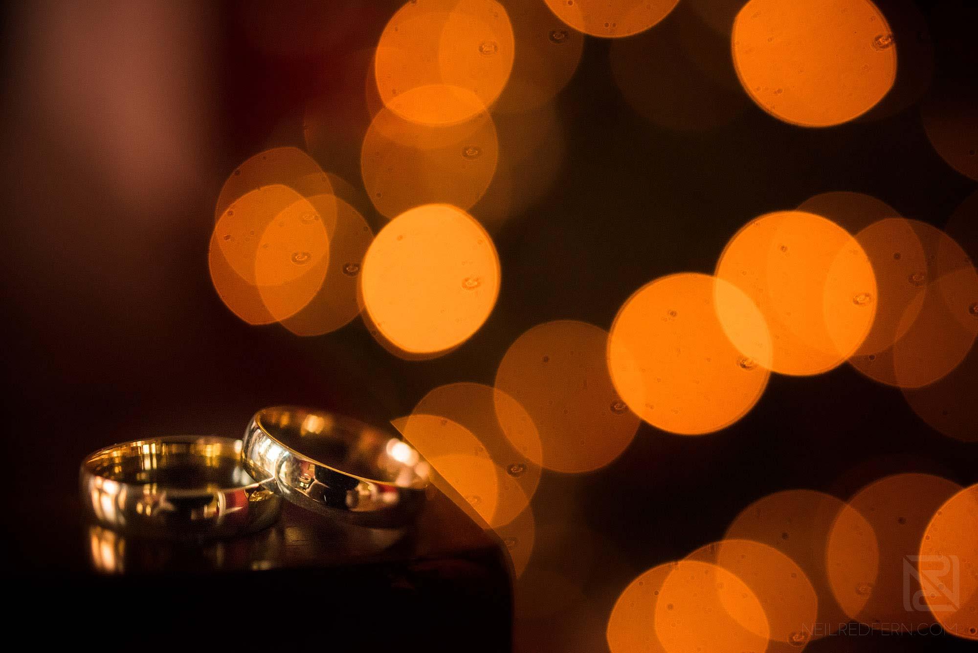 creative photograph of wedding rings