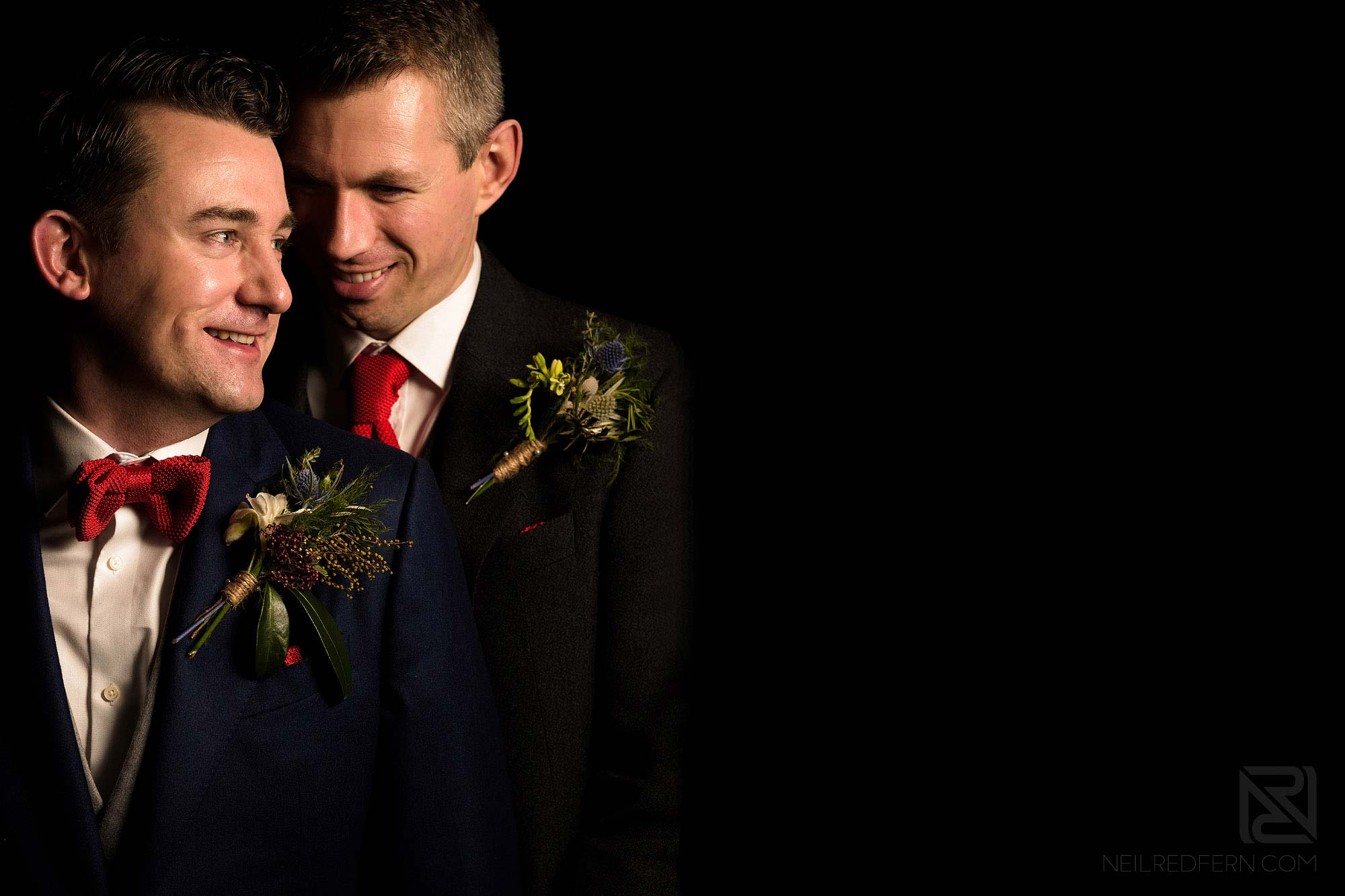 romantic portrait of married couple at King Street Townhouse