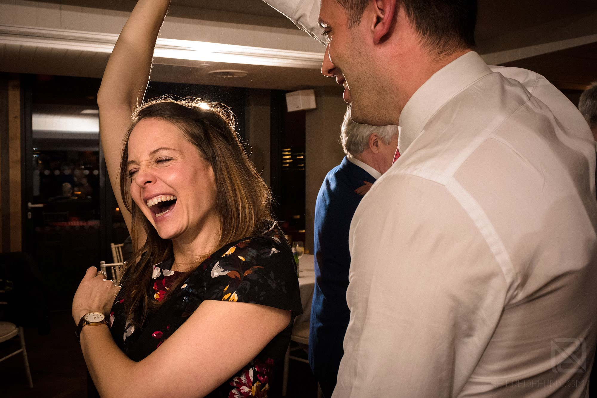 wedding guests dancing at King Street Townhouse in Manchester