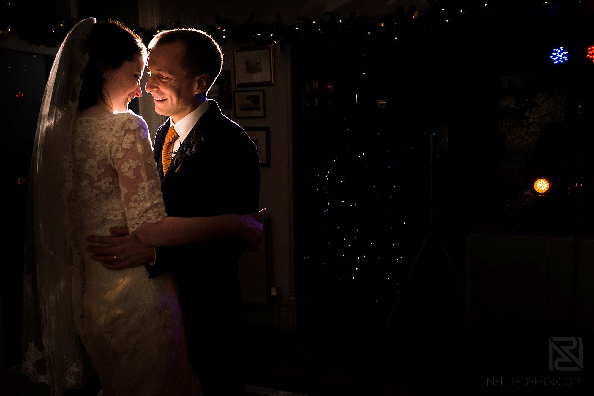 bride and groom first dance at Broadoaks Country House in the Lake District
