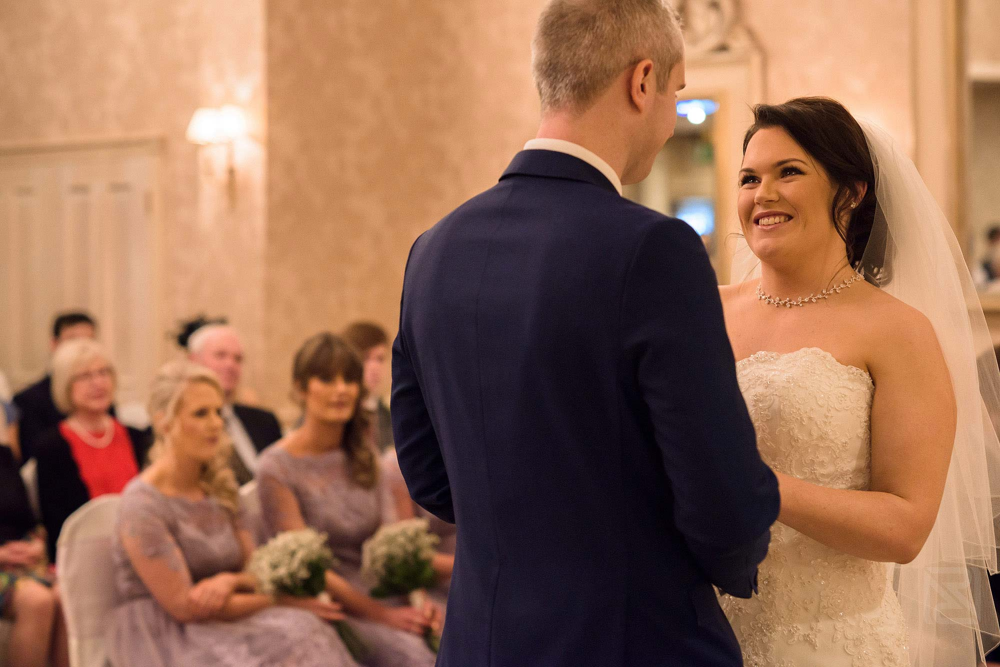 wedding ceremony at Rowton Hall in Cheshire