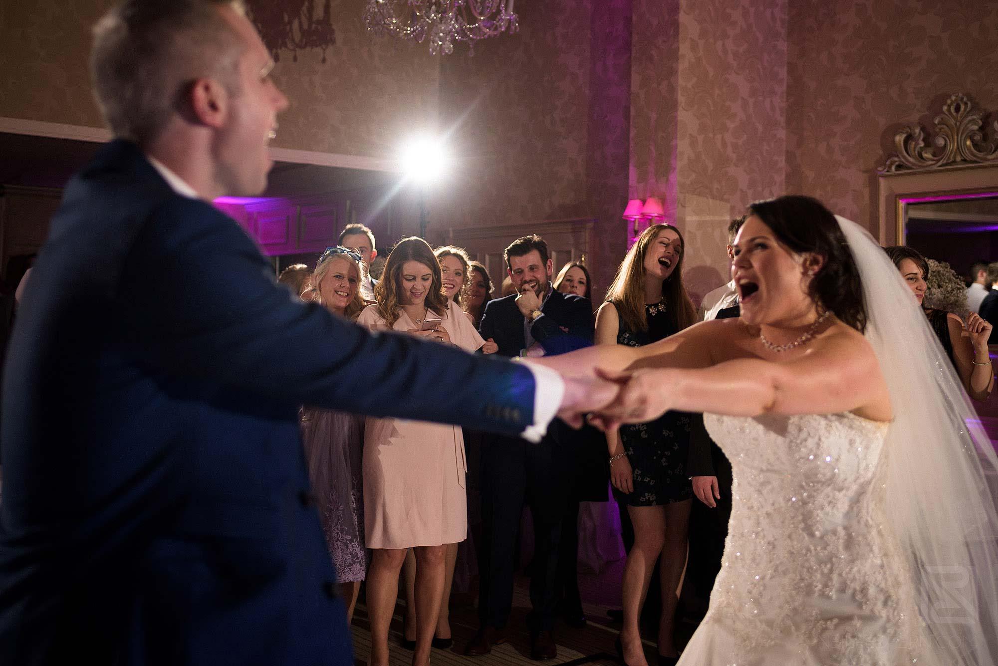first dance at Rowton Hall wedding