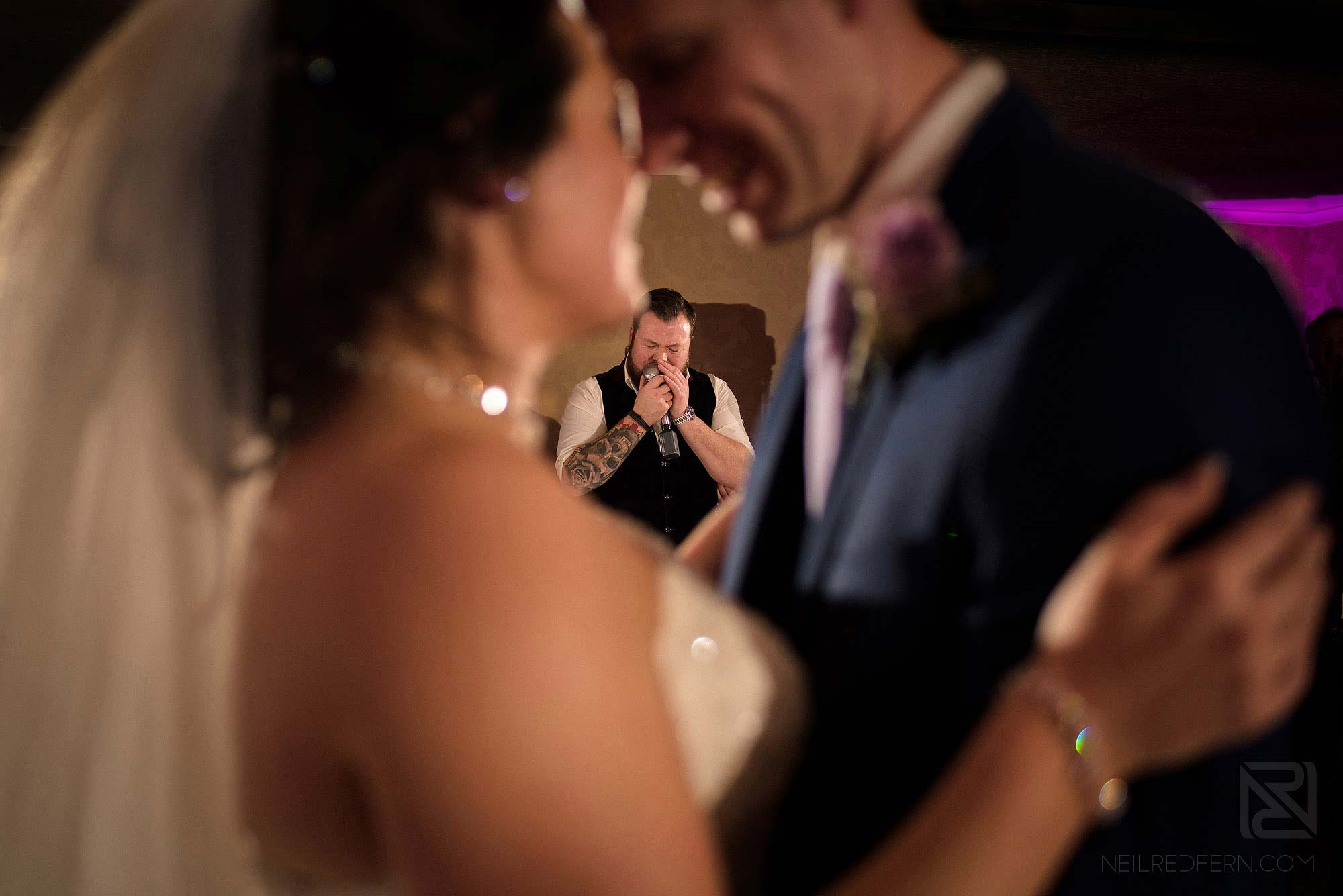Gavin from The Rush wedding band singing first dance