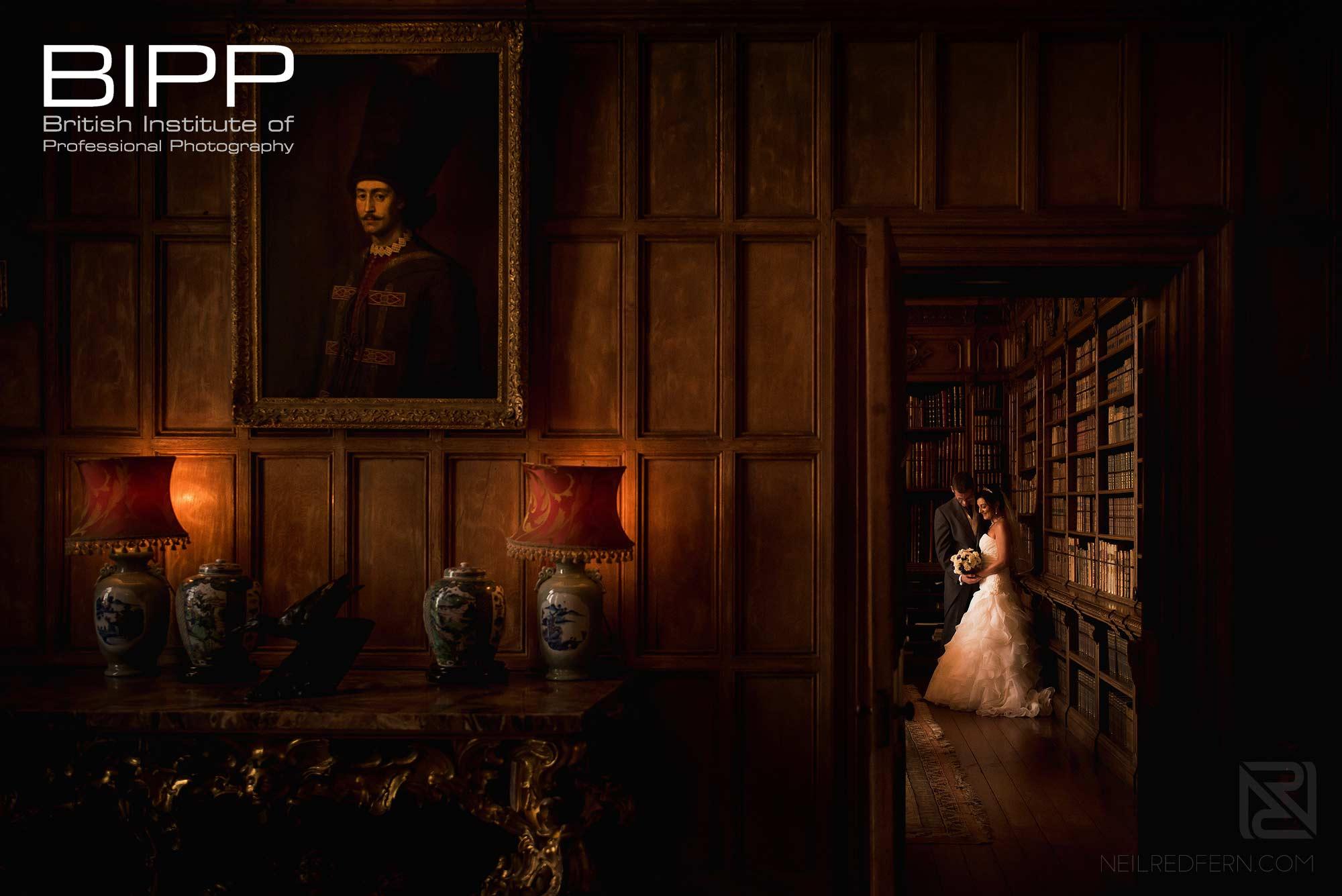 award winning wedding photograph taken in Arley Hall