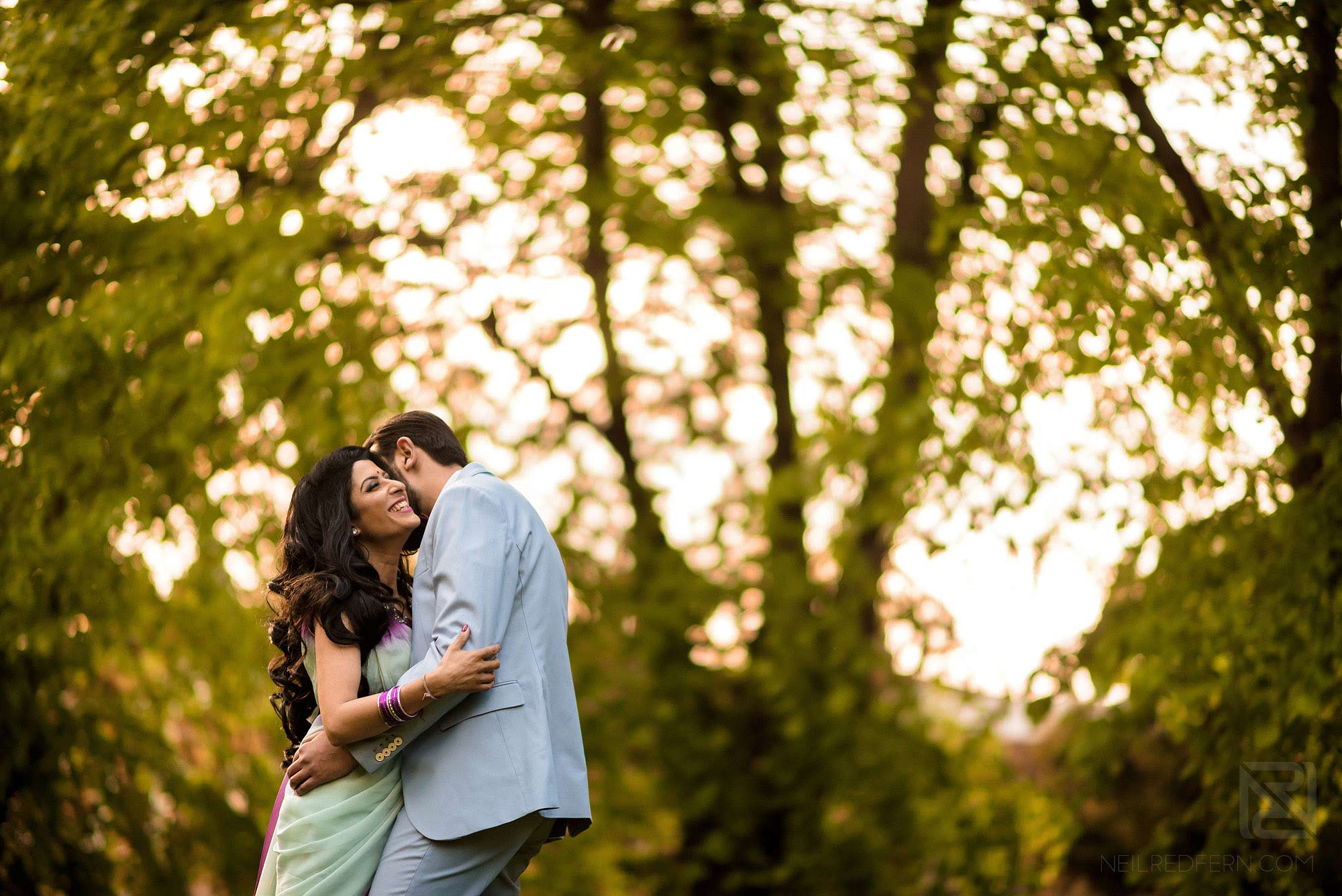 photograph of Hindu couple on engagement shoot