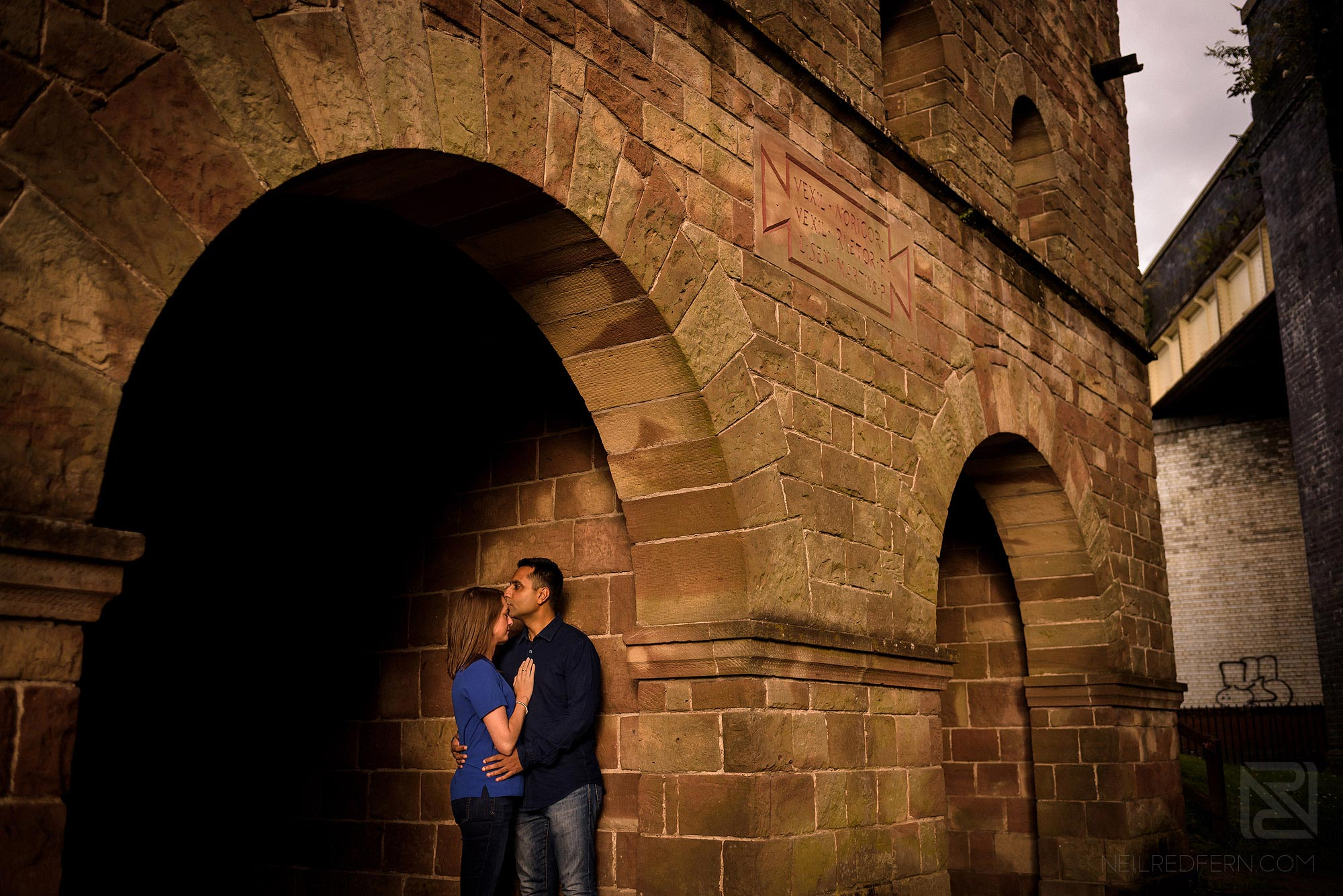 photograph of couple in Castlefield