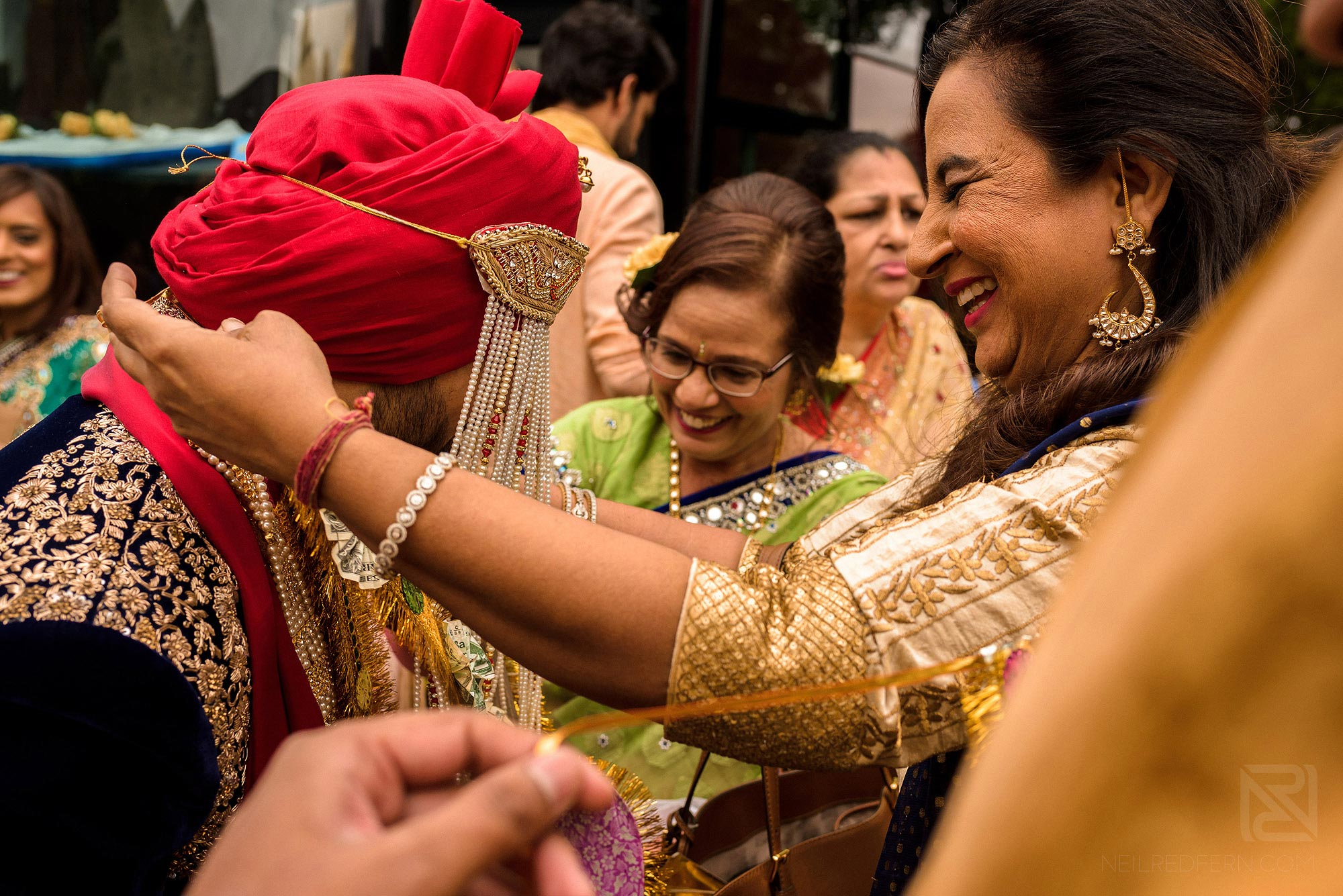 beautiful moment during Indian wedding