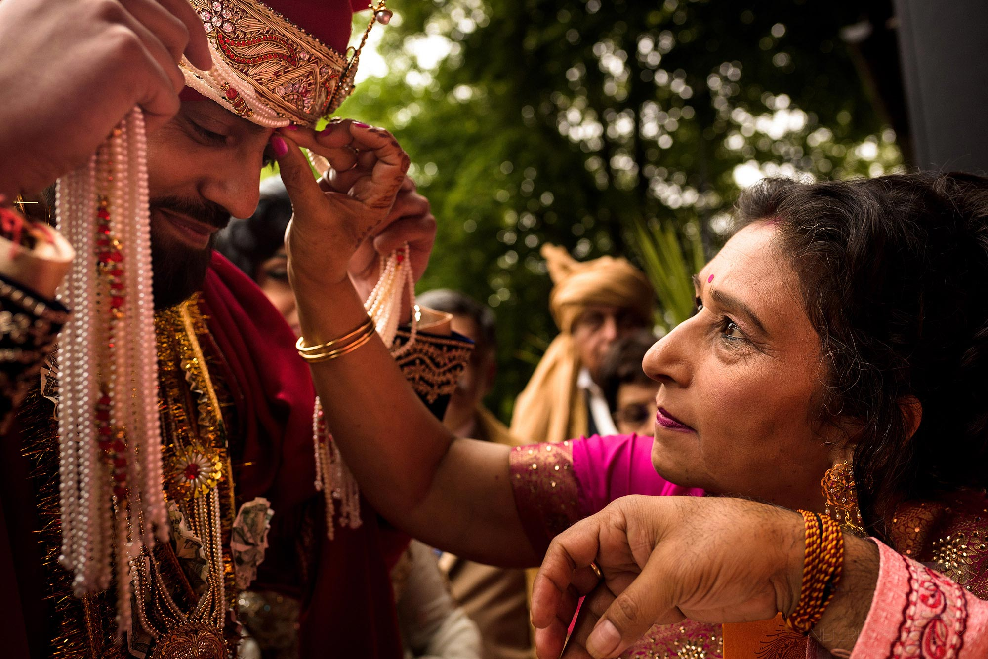 special moment during Indian wedding