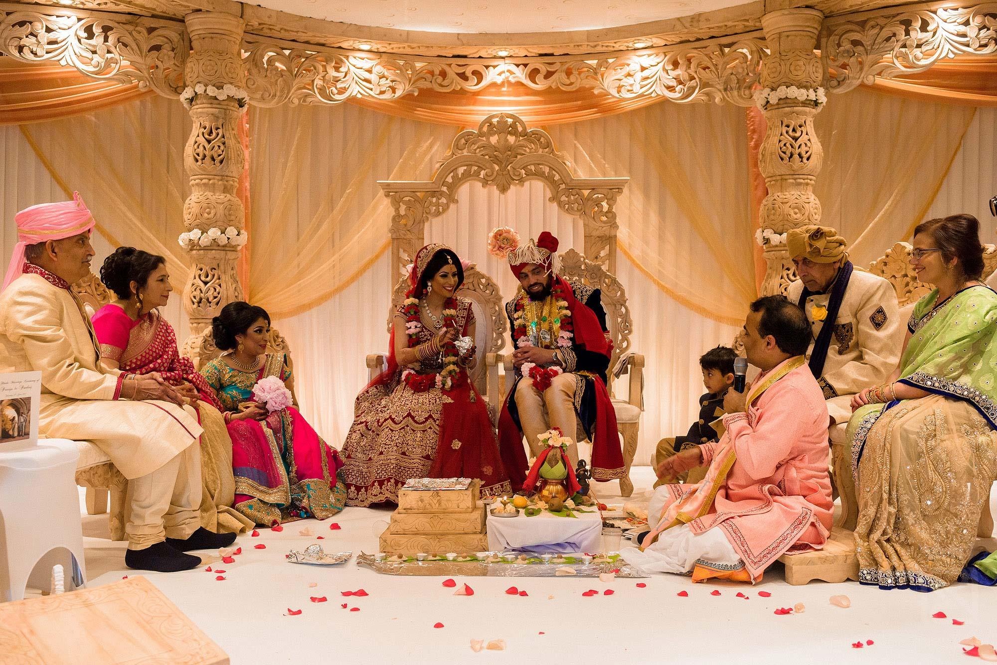wedding ceremony under Mandap