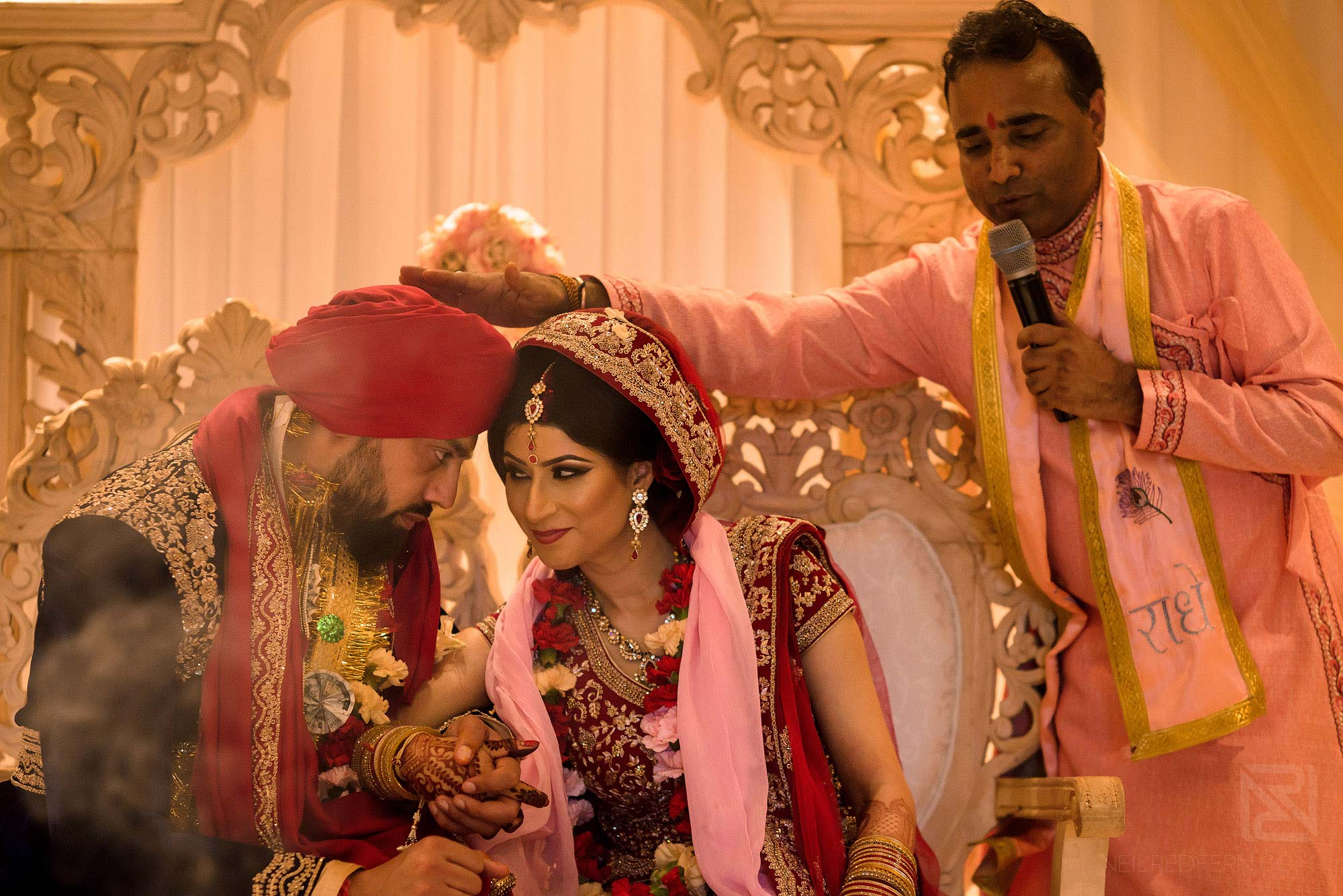 special moment during Indian wedding ceremony