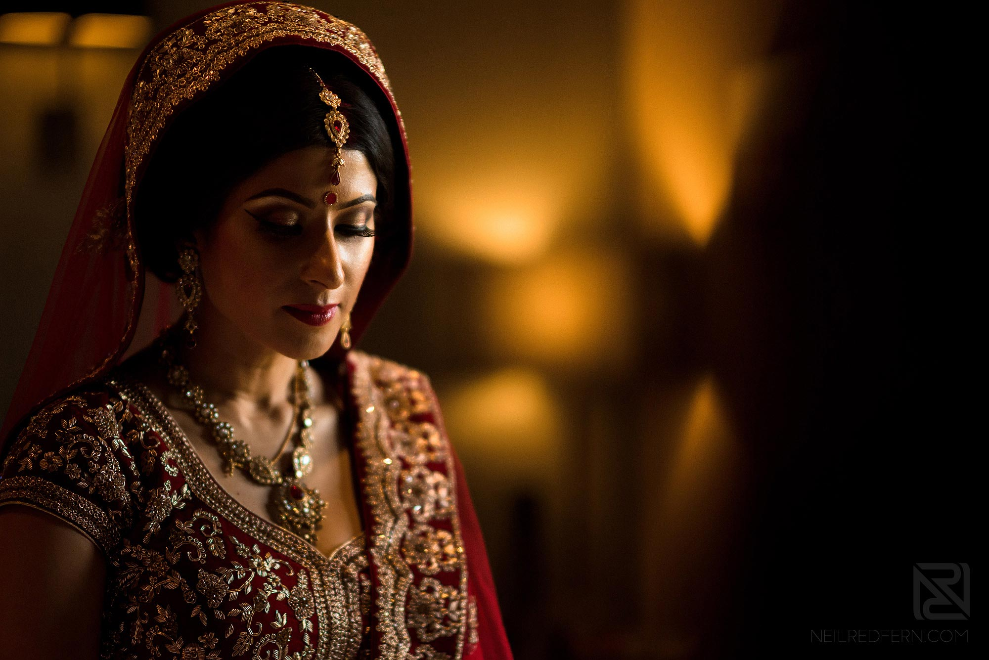 portrait of beautiful Indian bride
