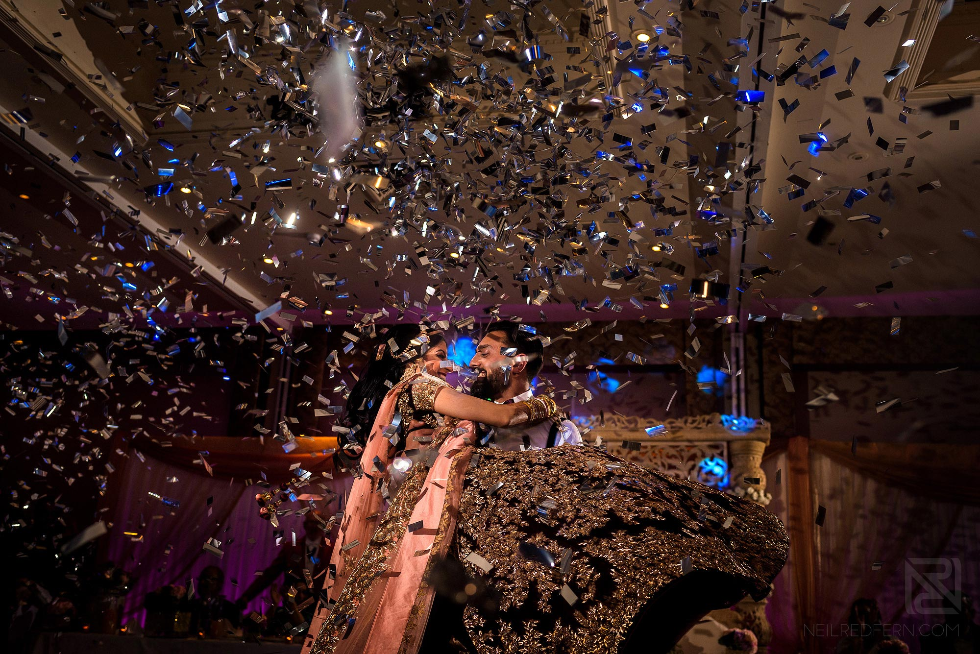 confetti cannon during first dance