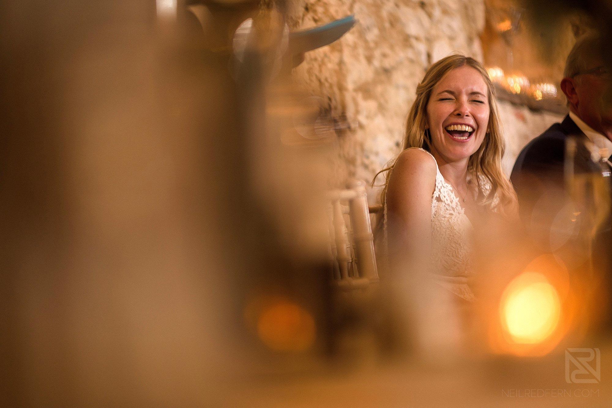 laughter during wedding breakfast