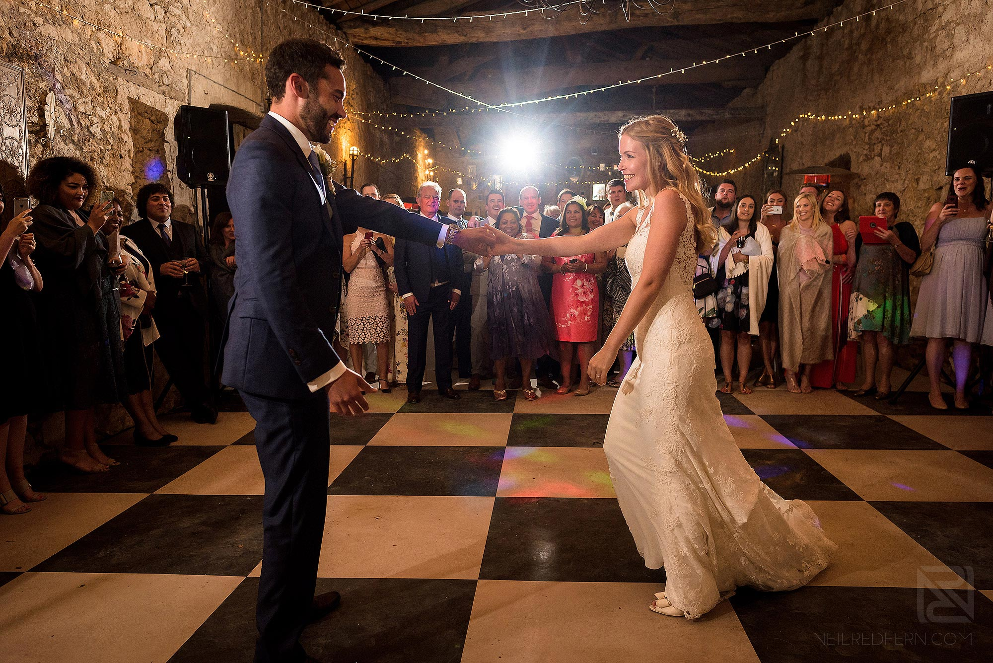 first dance at Chateau Soulac wedding
