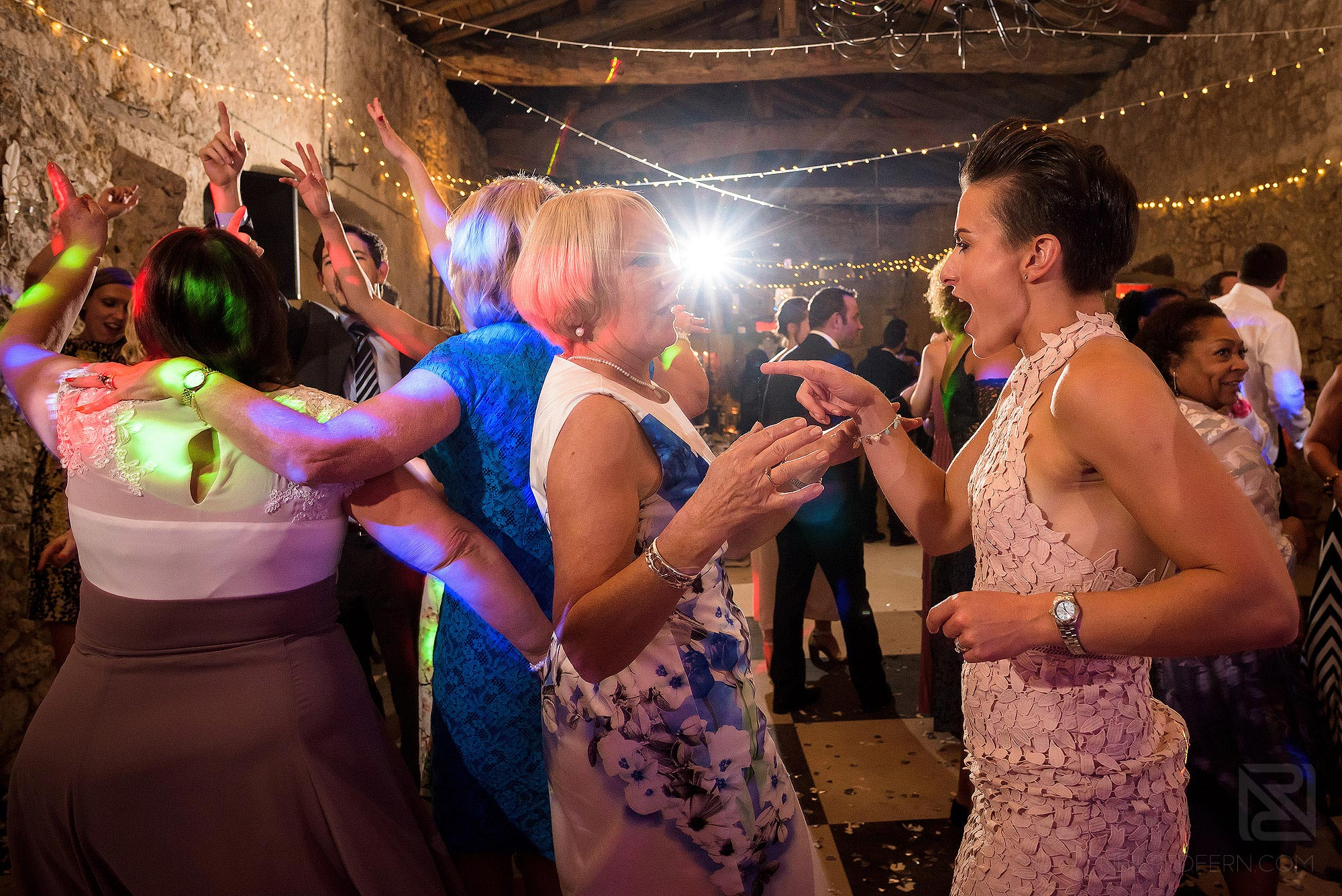 lots of dancing at Chateau Soulac wedding