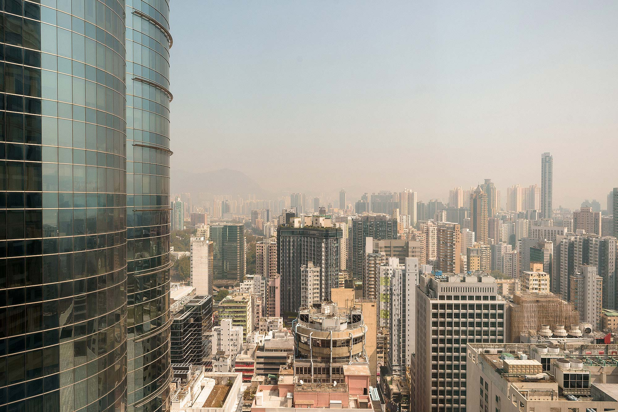 view from room in Cordis Hotel Mong Kok