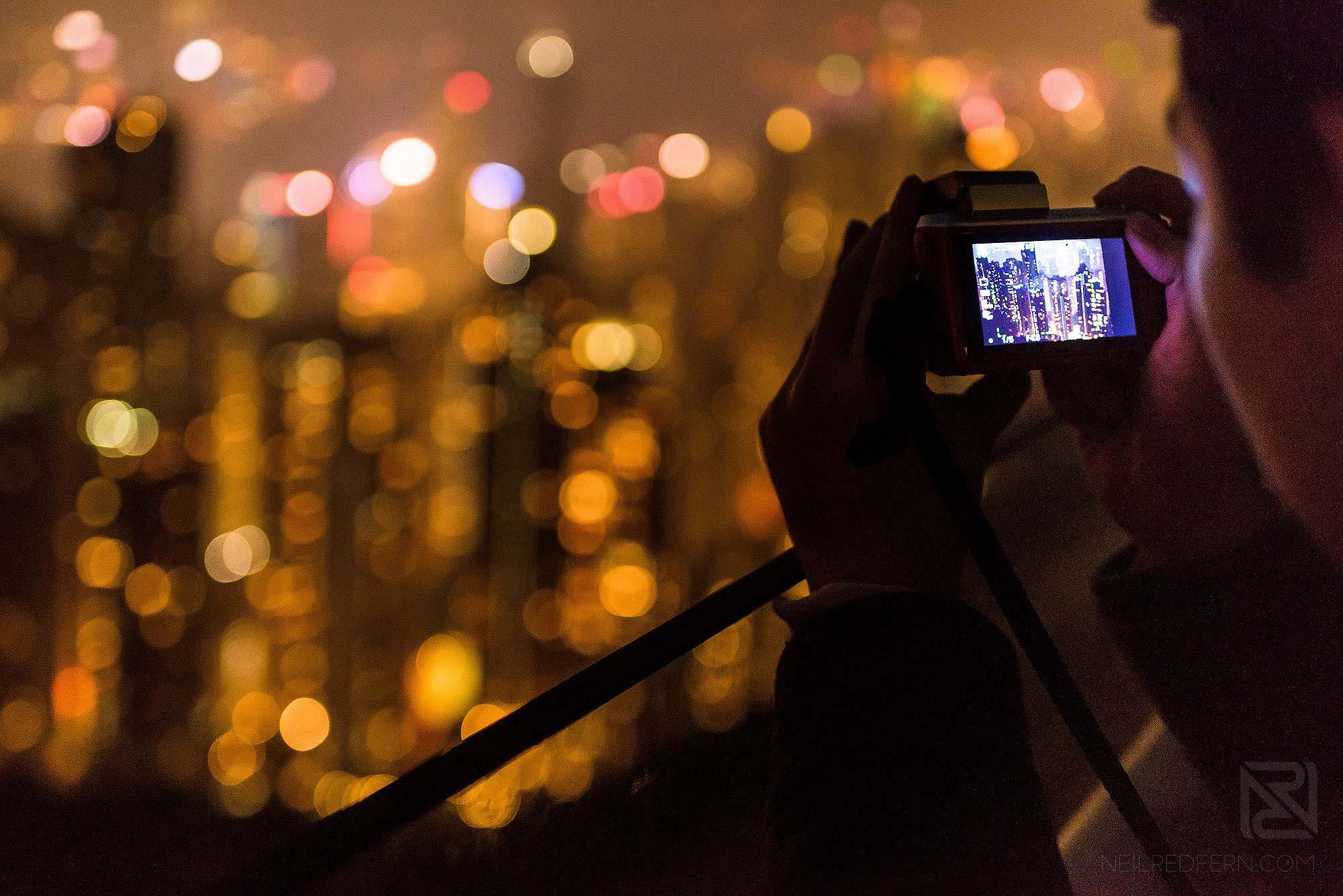 photographer taking picture at Victoria Peak