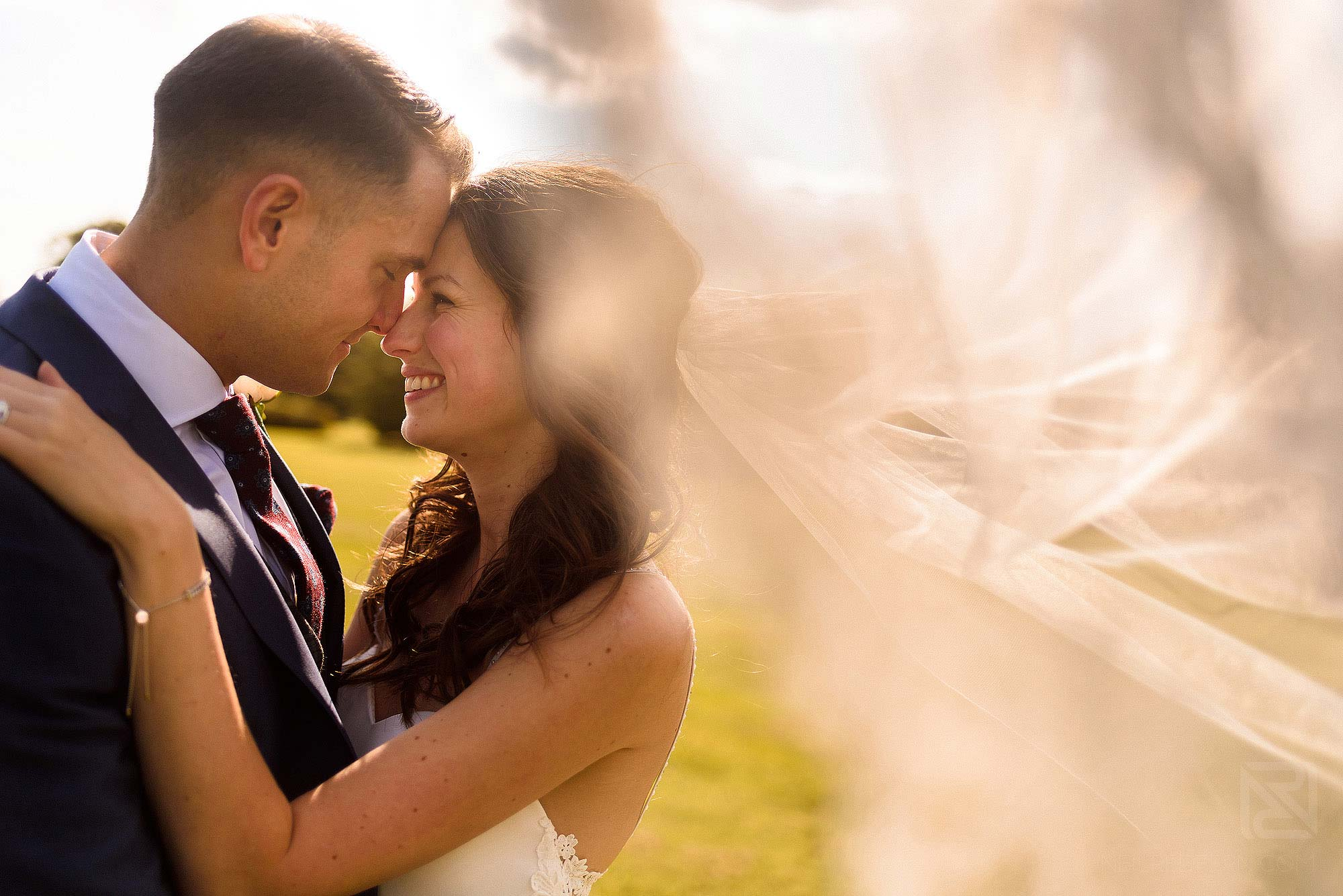 portrait of smiling newlyweds