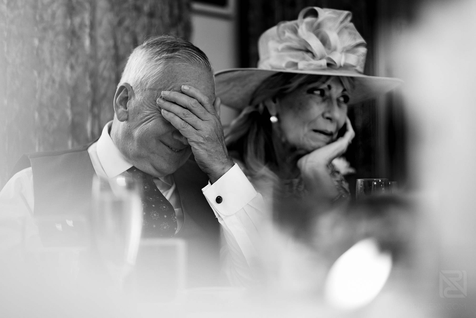 guest reactions during wedding speech
