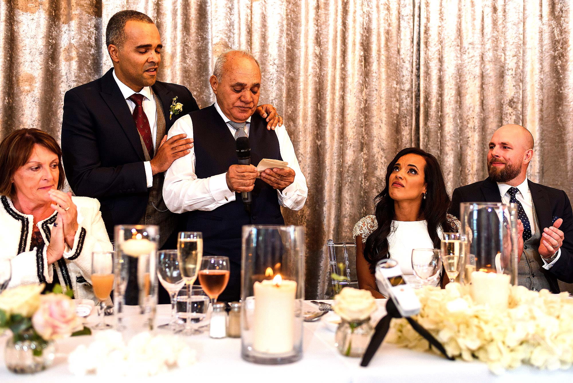 emotional moment during father of bride wedding speech