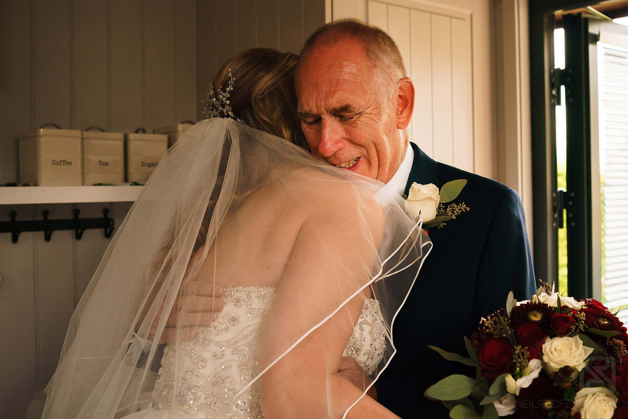 emotional father of the bride crying