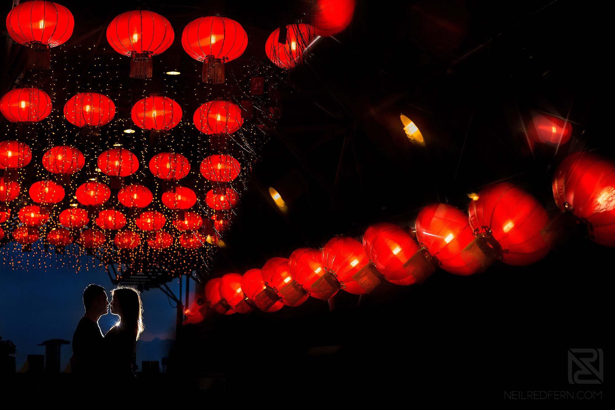 creative OCF photograph of couple in Hong Kong
