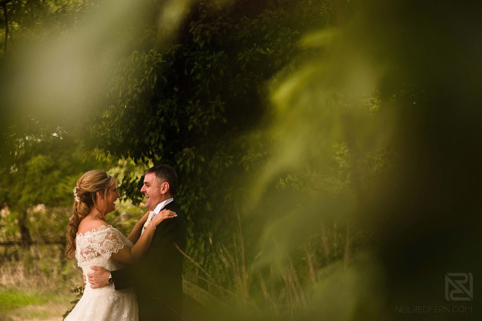 bride and groom portrait at The Villa Wrea Green in Lancashire