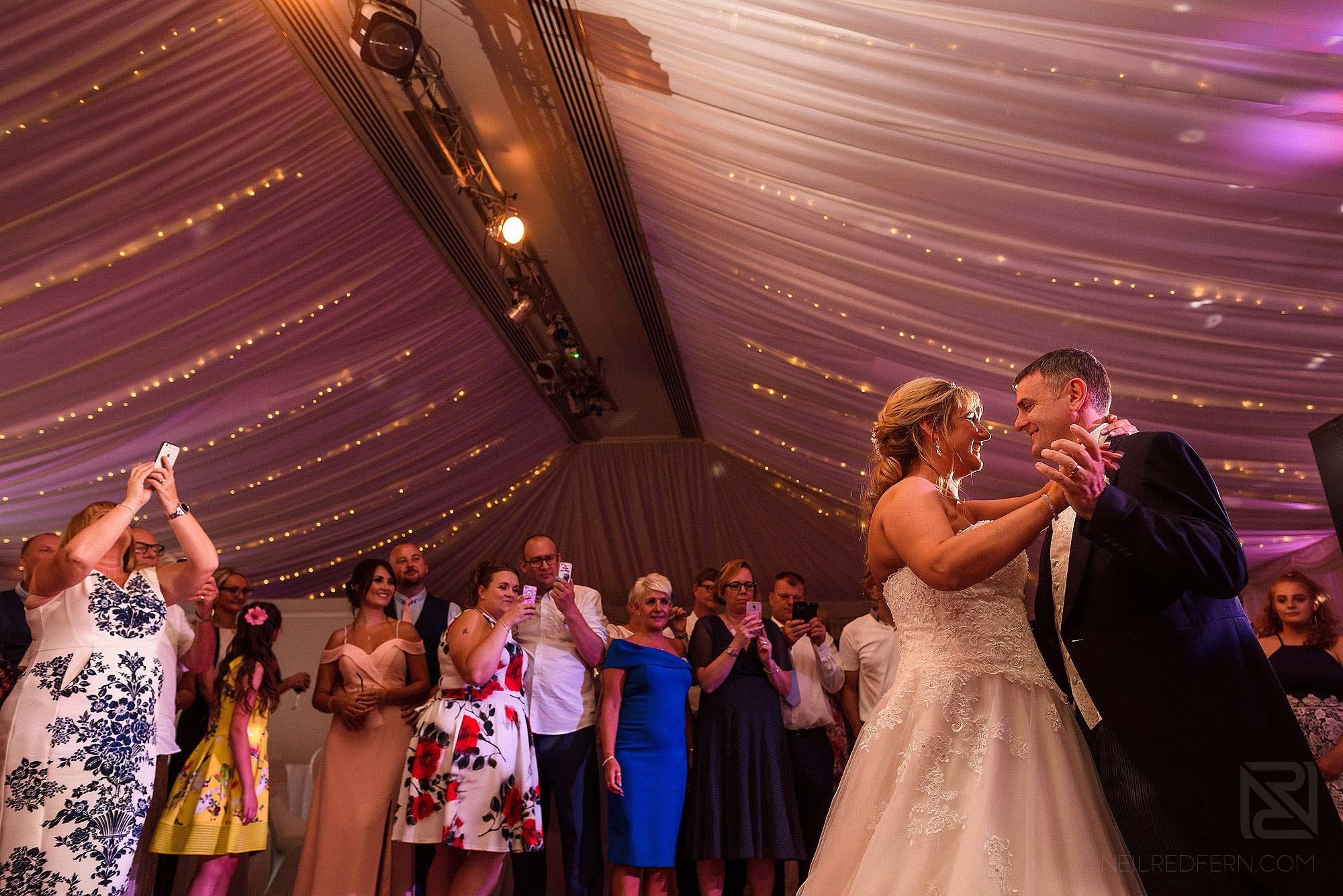 bride and groom first dance at The Villa Wrea Green