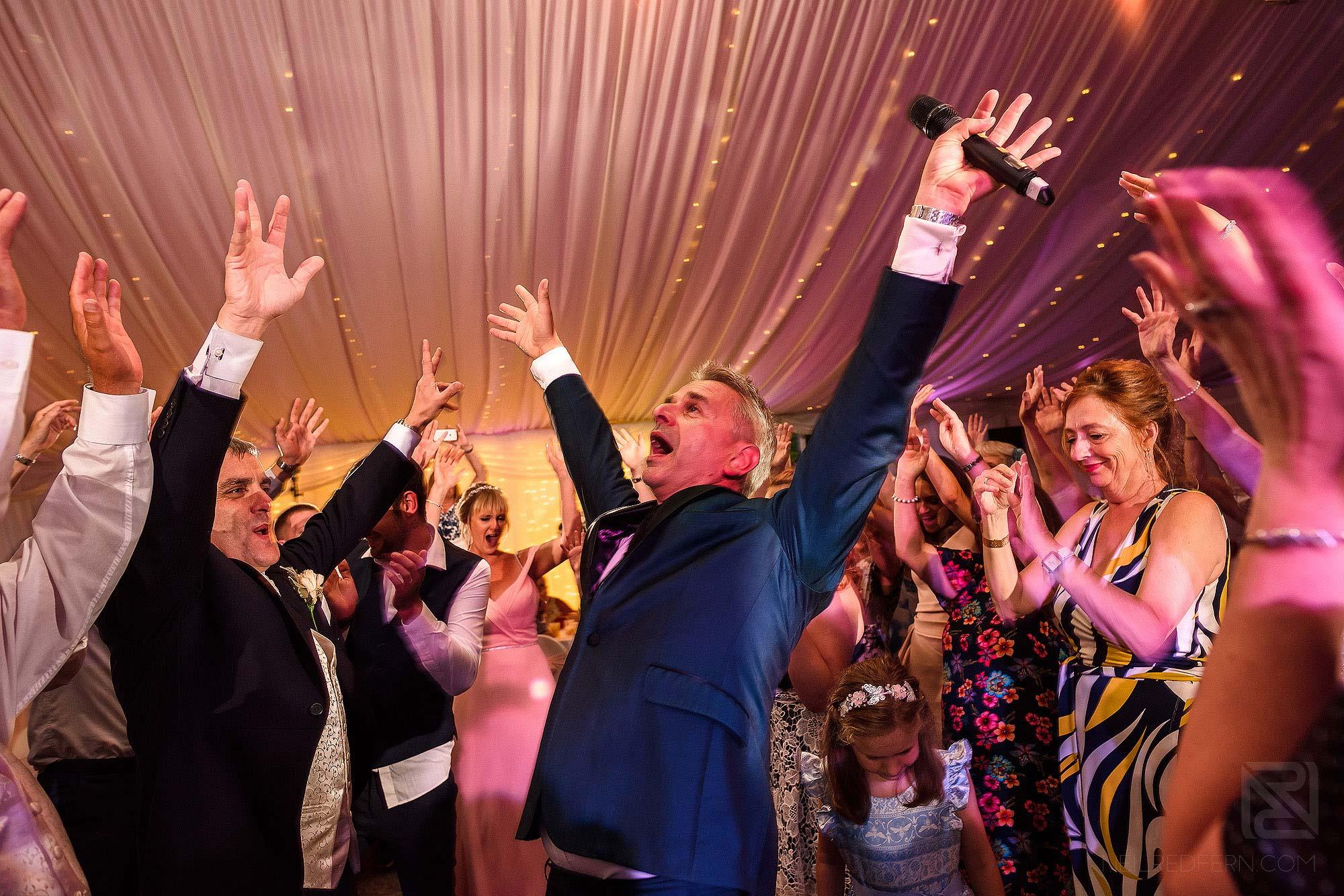 Paul Guard entertaining wedding at The Villa Wrea Green