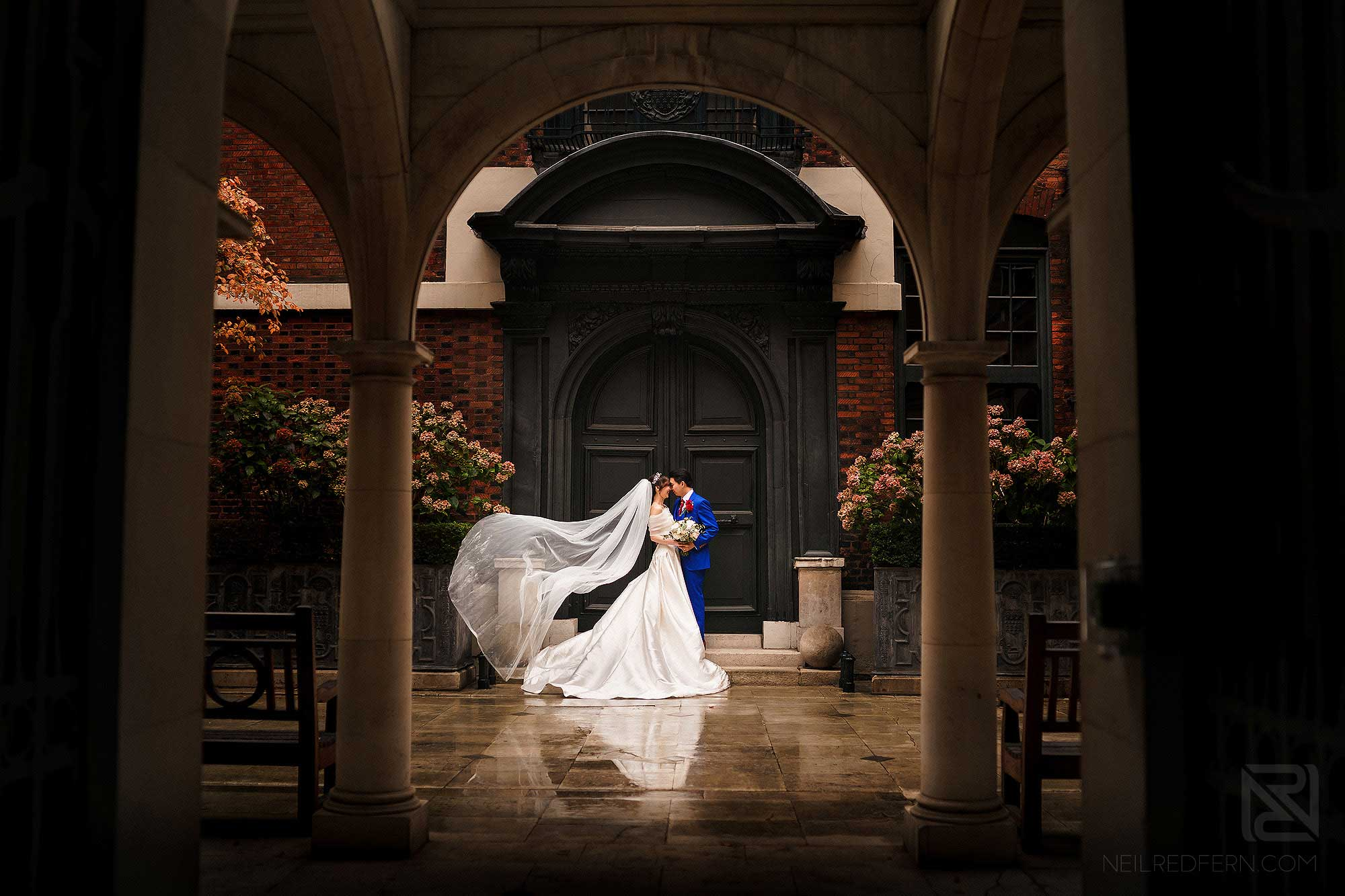beautiful portrait photograph of newly married couple