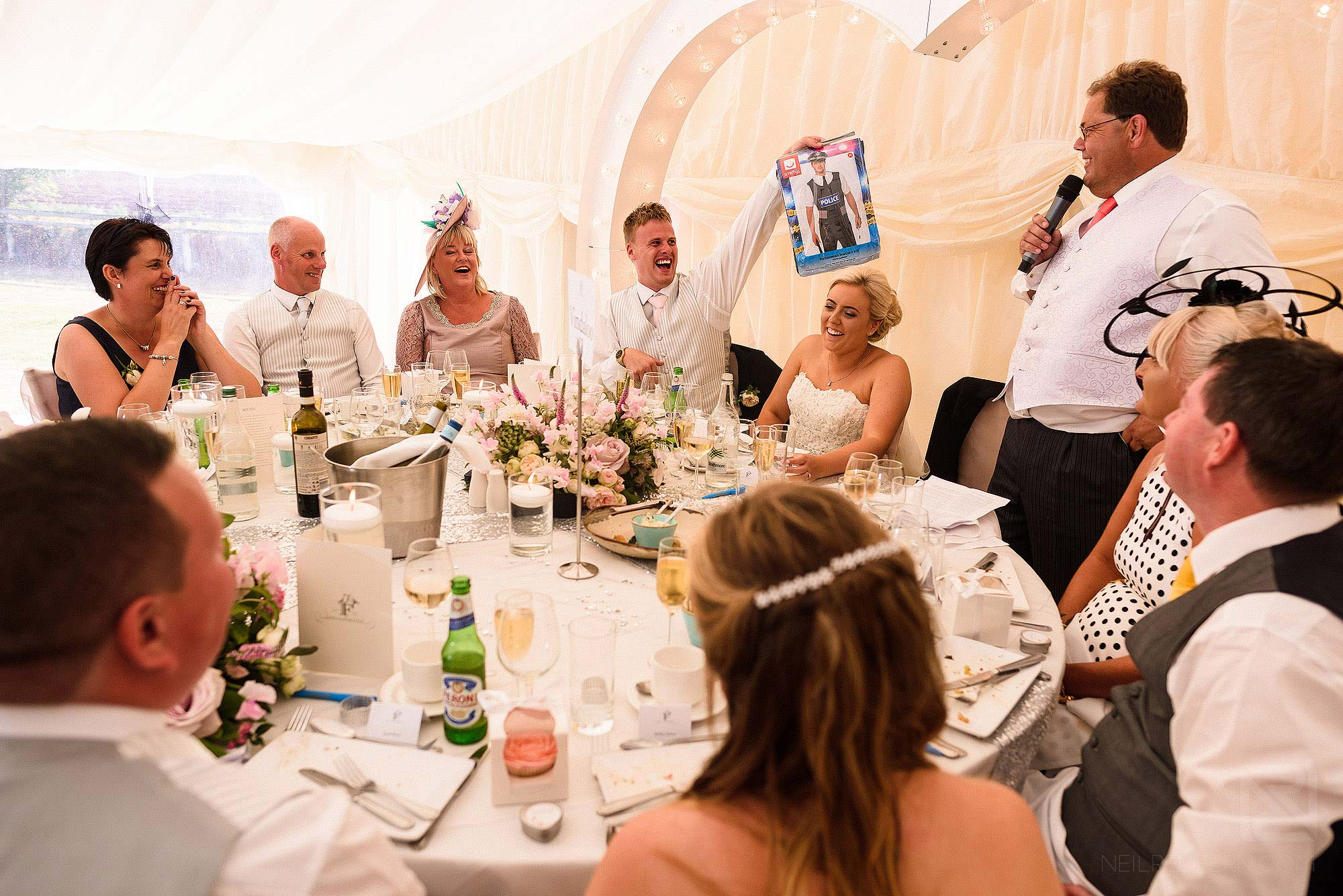 wedding speeches during DIY wedding