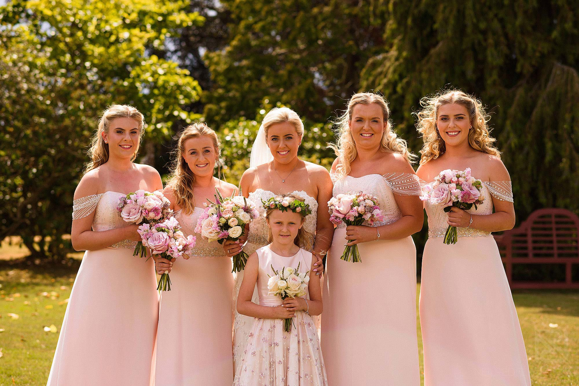 group photograph of bridal party