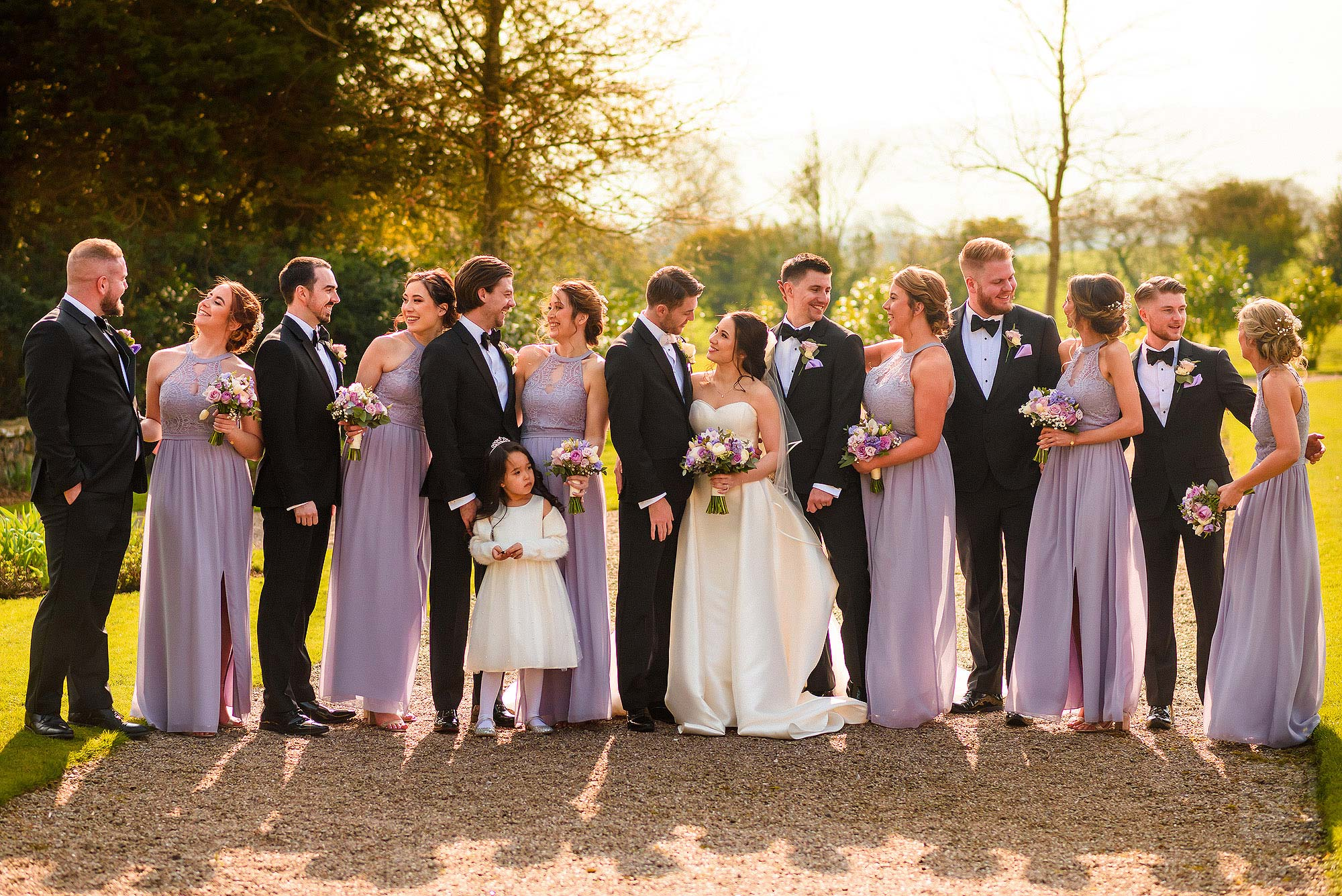 group photograph of full bridal party