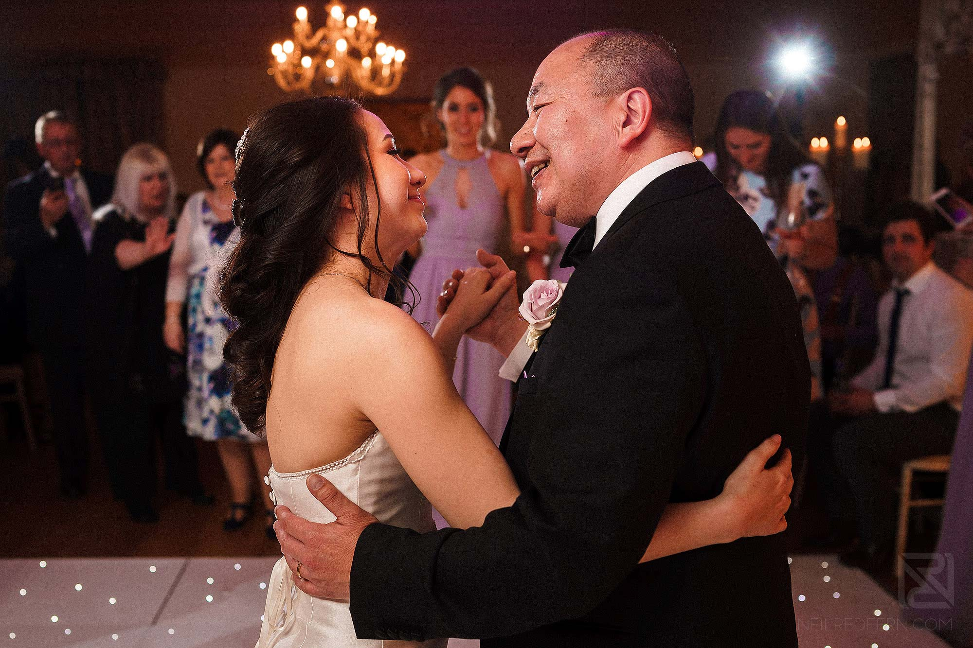 father and daughter dance at Eaves Hall